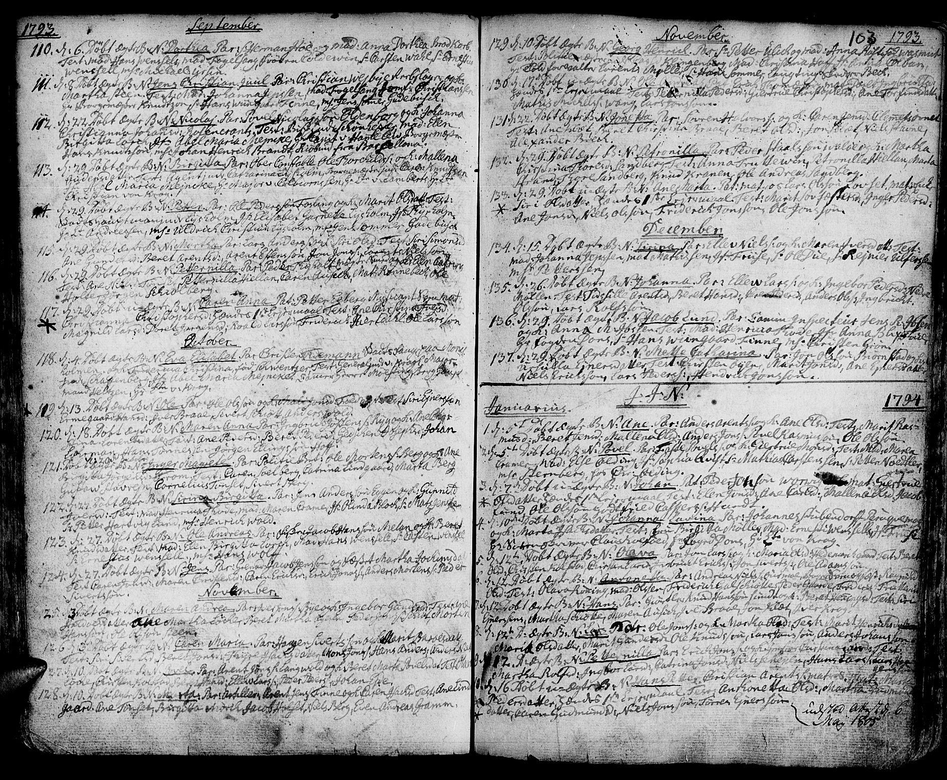 SAT, Ministerialprotokoller, klokkerbøker og fødselsregistre - Sør-Trøndelag, 601/L0039: Ministerialbok nr. 601A07, 1770-1819, s. 103