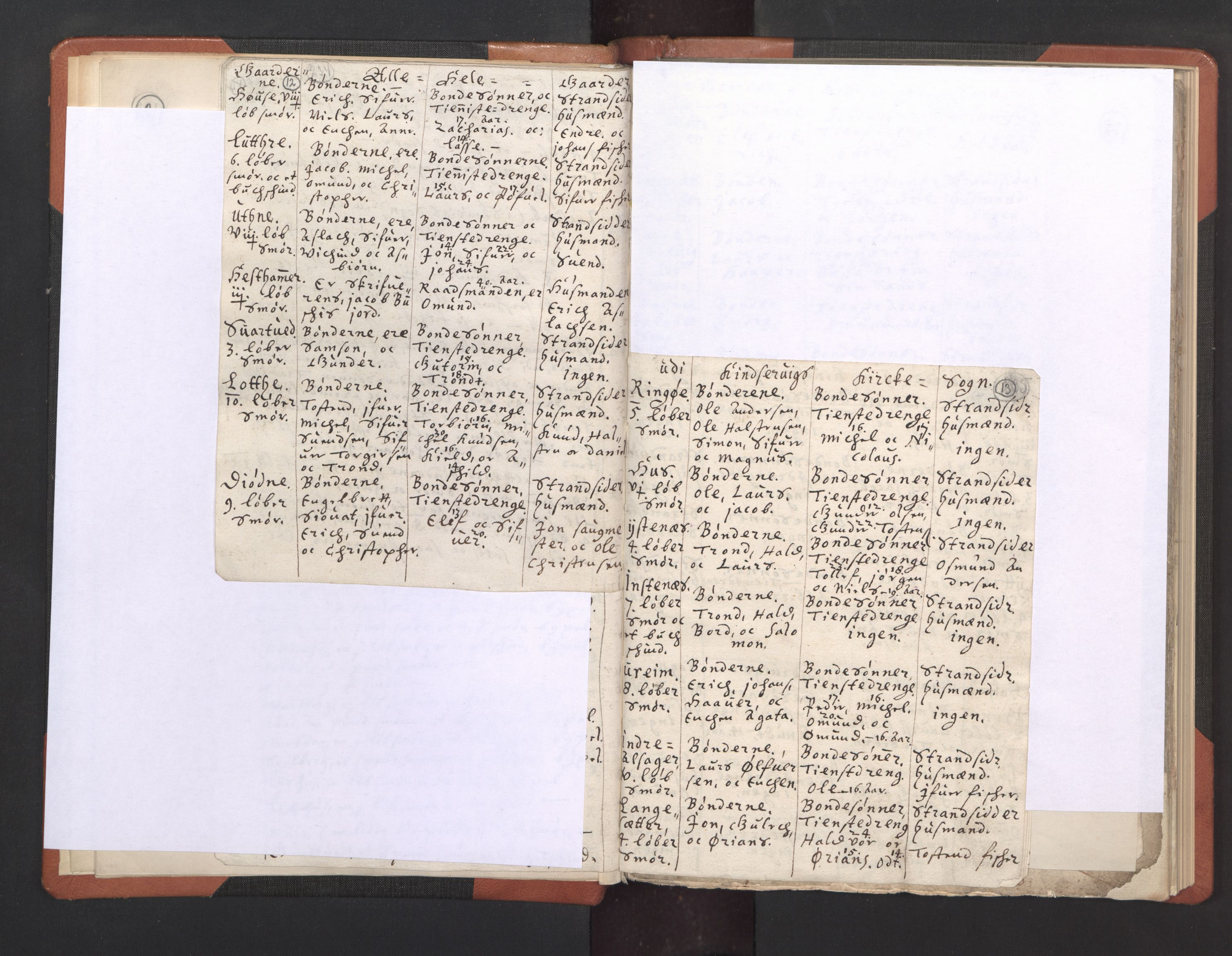 RA, Sogneprestenes manntall 1664-1666, nr. 21: Hardanger prosti, 1664-1666, s. 12-13