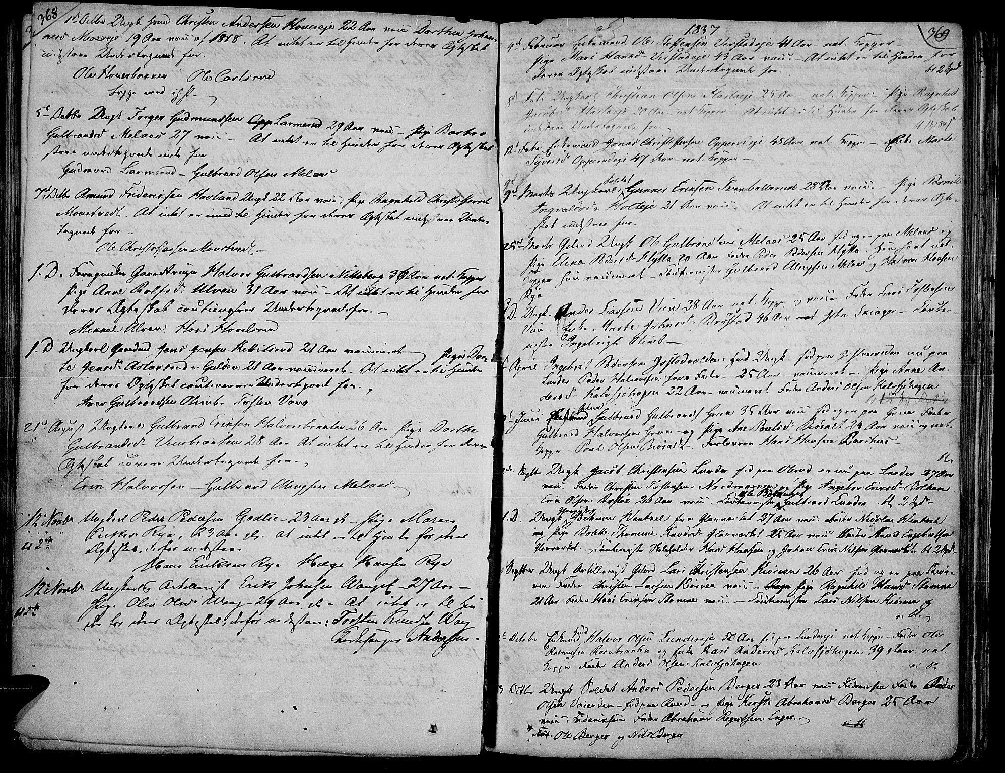 SAH, Jevnaker prestekontor, Ministerialbok nr. 4, 1800-1861, s. 368-369