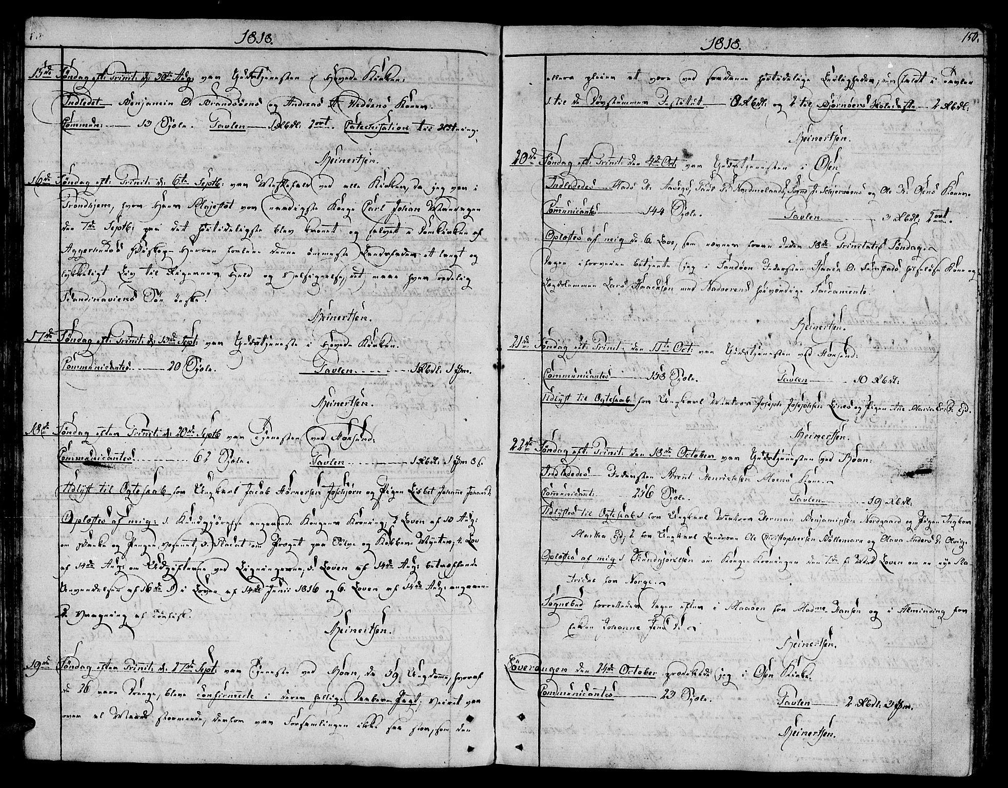 SAT, Ministerialprotokoller, klokkerbøker og fødselsregistre - Sør-Trøndelag, 657/L0701: Ministerialbok nr. 657A02, 1802-1831, s. 150