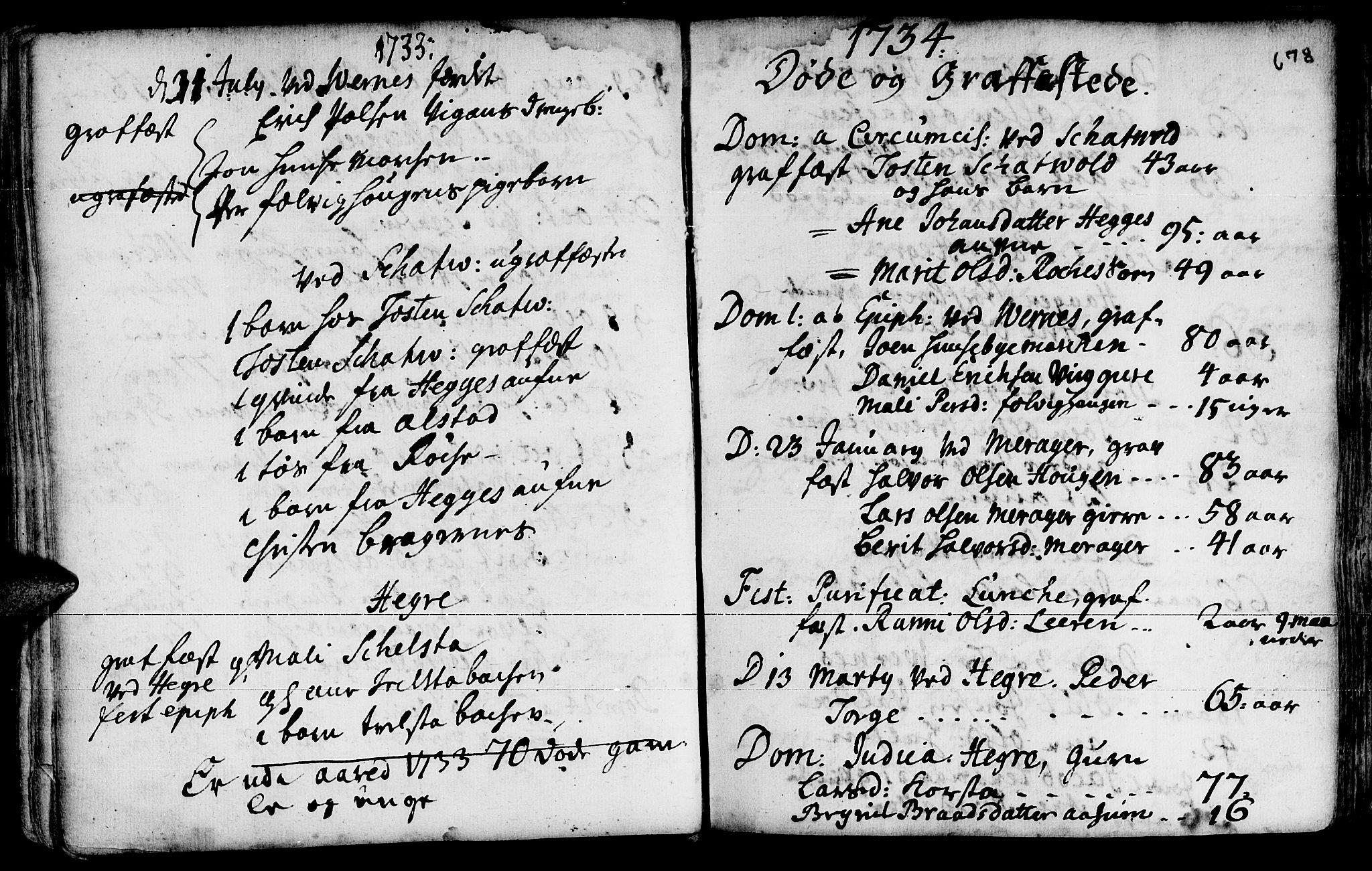 SAT, Ministerialprotokoller, klokkerbøker og fødselsregistre - Nord-Trøndelag, 709/L0055: Ministerialbok nr. 709A03, 1730-1739, s. 677-678
