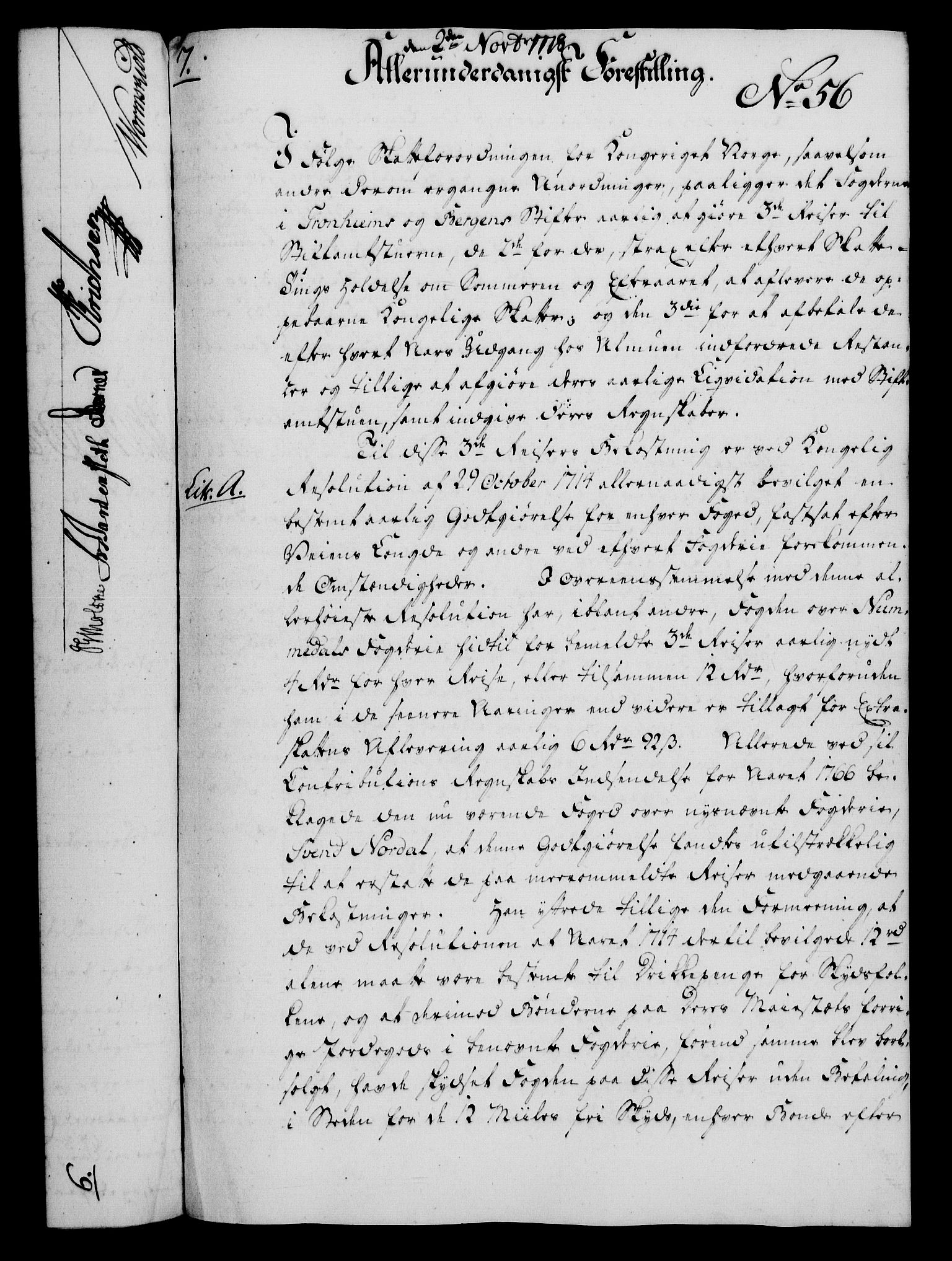 RA, Rentekammeret, Kammerkanselliet, G/Gf/Gfa/L0060: Norsk relasjons- og resolusjonsprotokoll (merket RK 52.60), 1778, s. 484