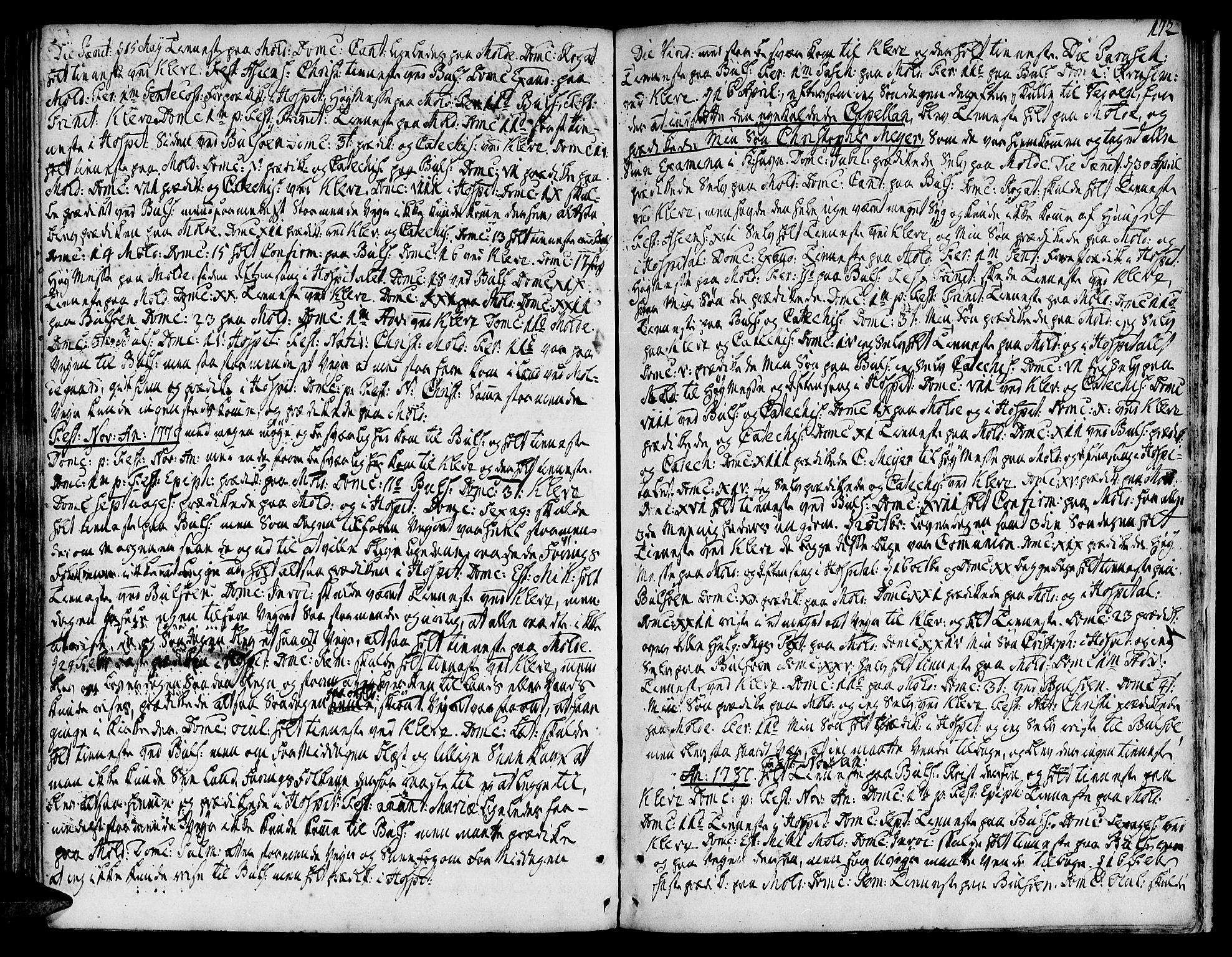 SAT, Ministerialprotokoller, klokkerbøker og fødselsregistre - Møre og Romsdal, 555/L0648: Ministerialbok nr. 555A01, 1759-1793, s. 172