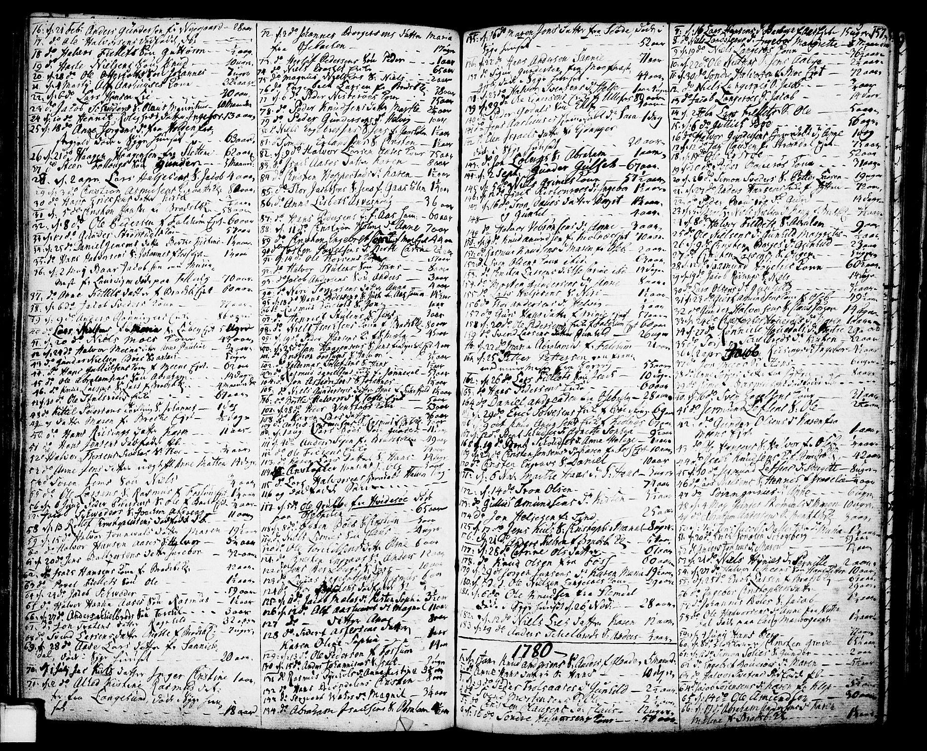SAKO, Gjerpen kirkebøker, F/Fa/L0002: Ministerialbok nr. 2, 1747-1795, s. 157