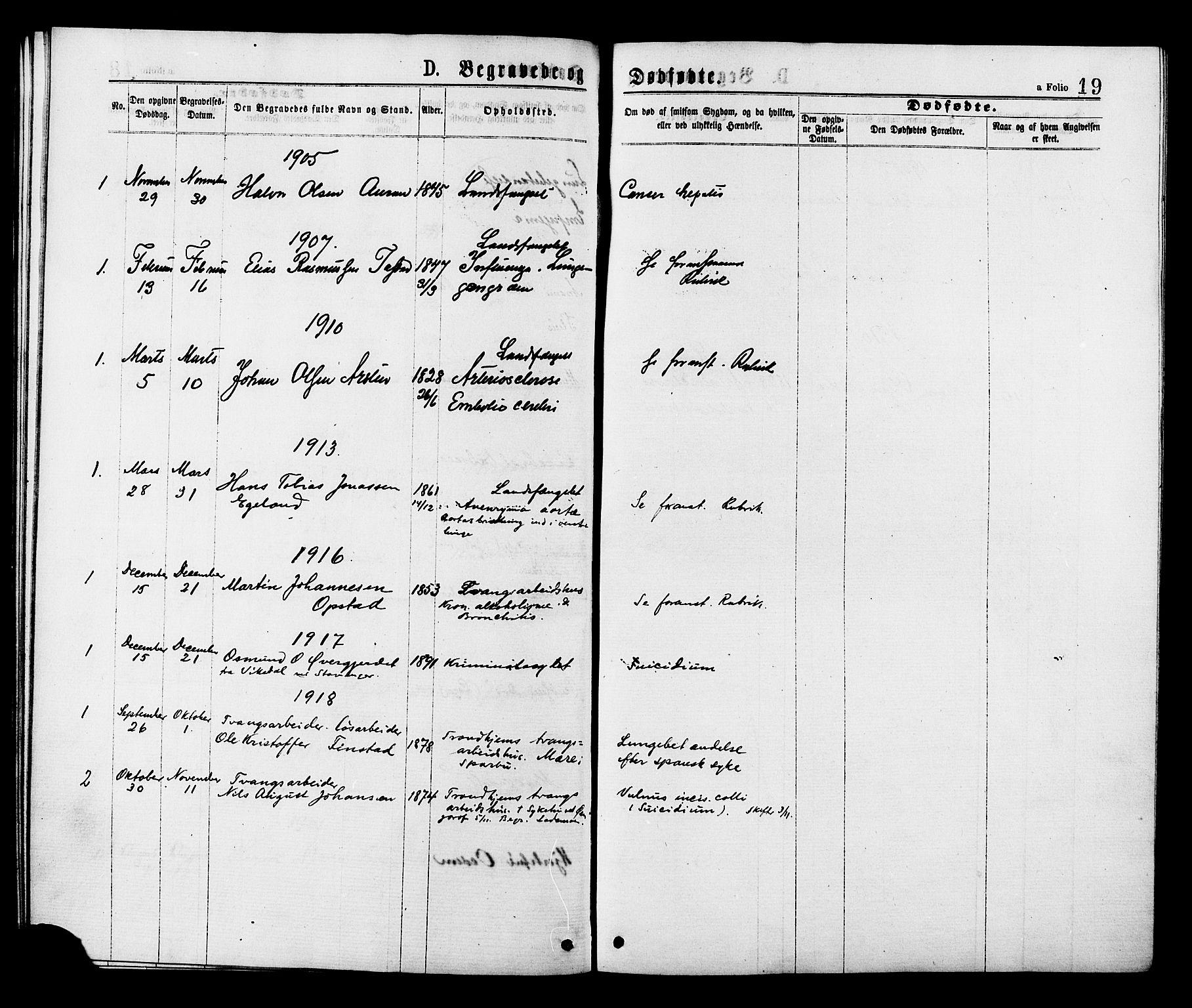SAT, Ministerialprotokoller, klokkerbøker og fødselsregistre - Sør-Trøndelag, 624/L0482: Ministerialbok nr. 624A03, 1870-1918, s. 19