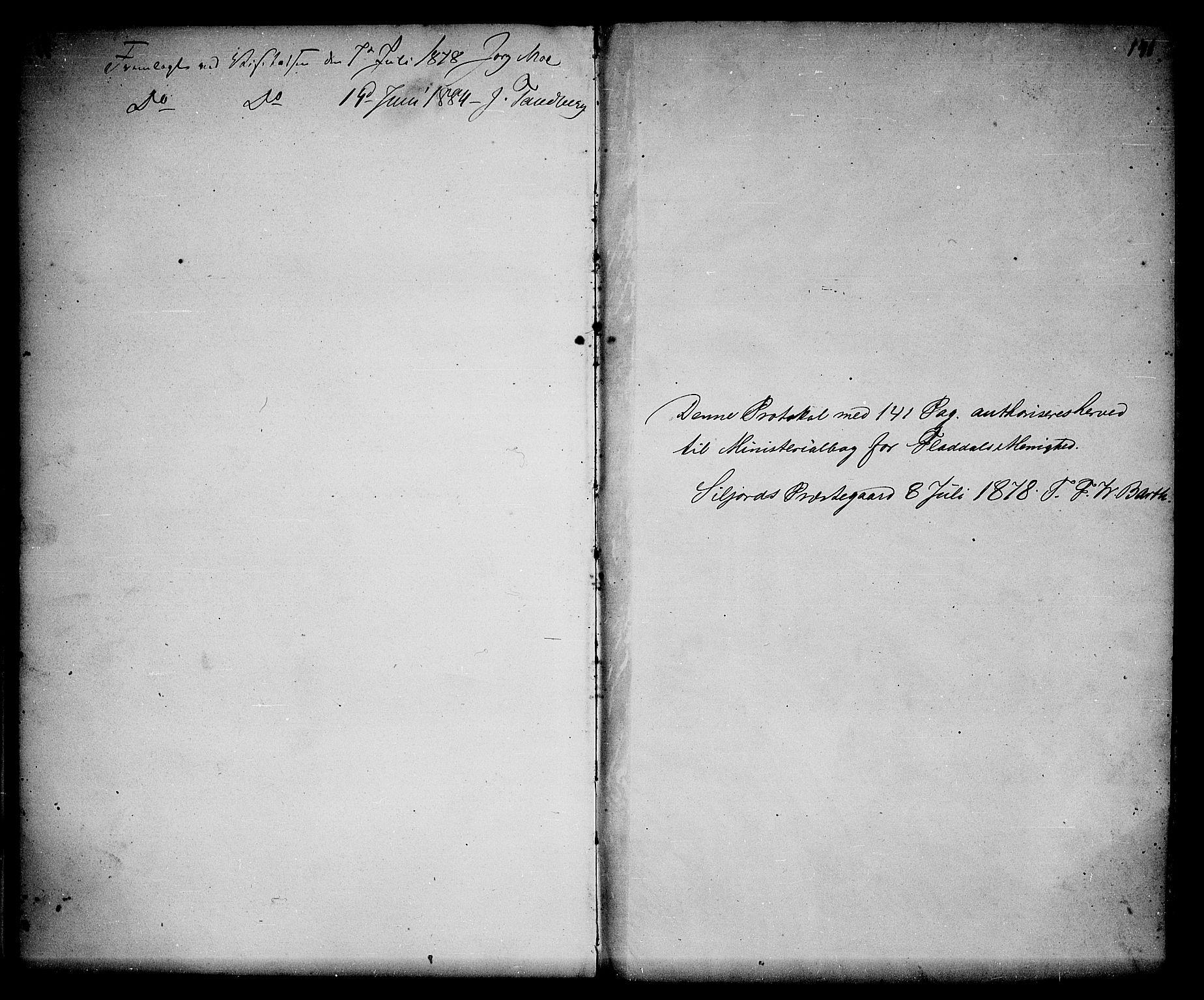 SAKO, Seljord kirkebøker, G/Gb/L0003: Klokkerbok nr. II 3, 1863-1884, s. 141
