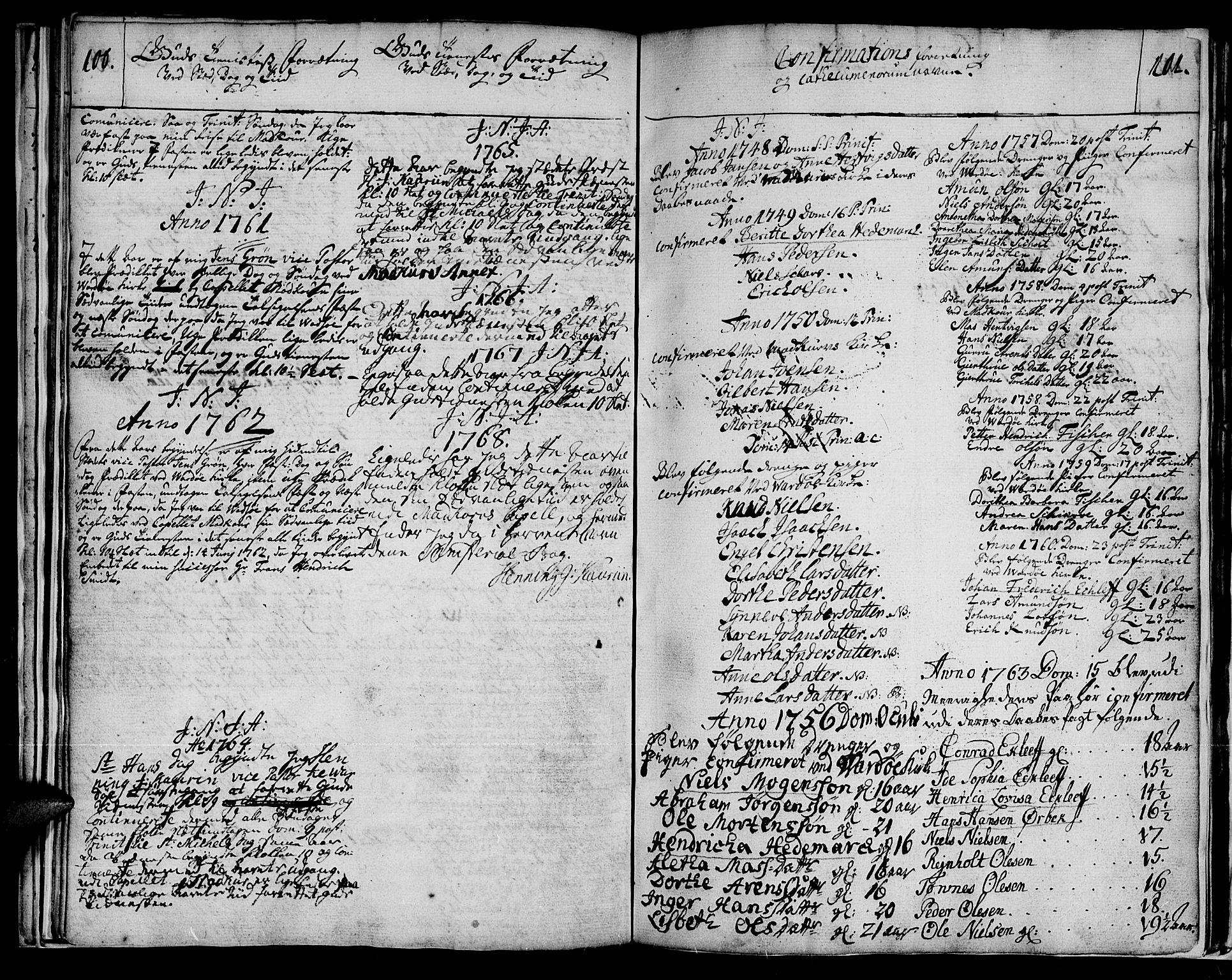 SATØ, Vadsø soknepreskontor, H/Ha/L0001kirke: Ministerialbok nr. 1, 1747-1768, s. 100