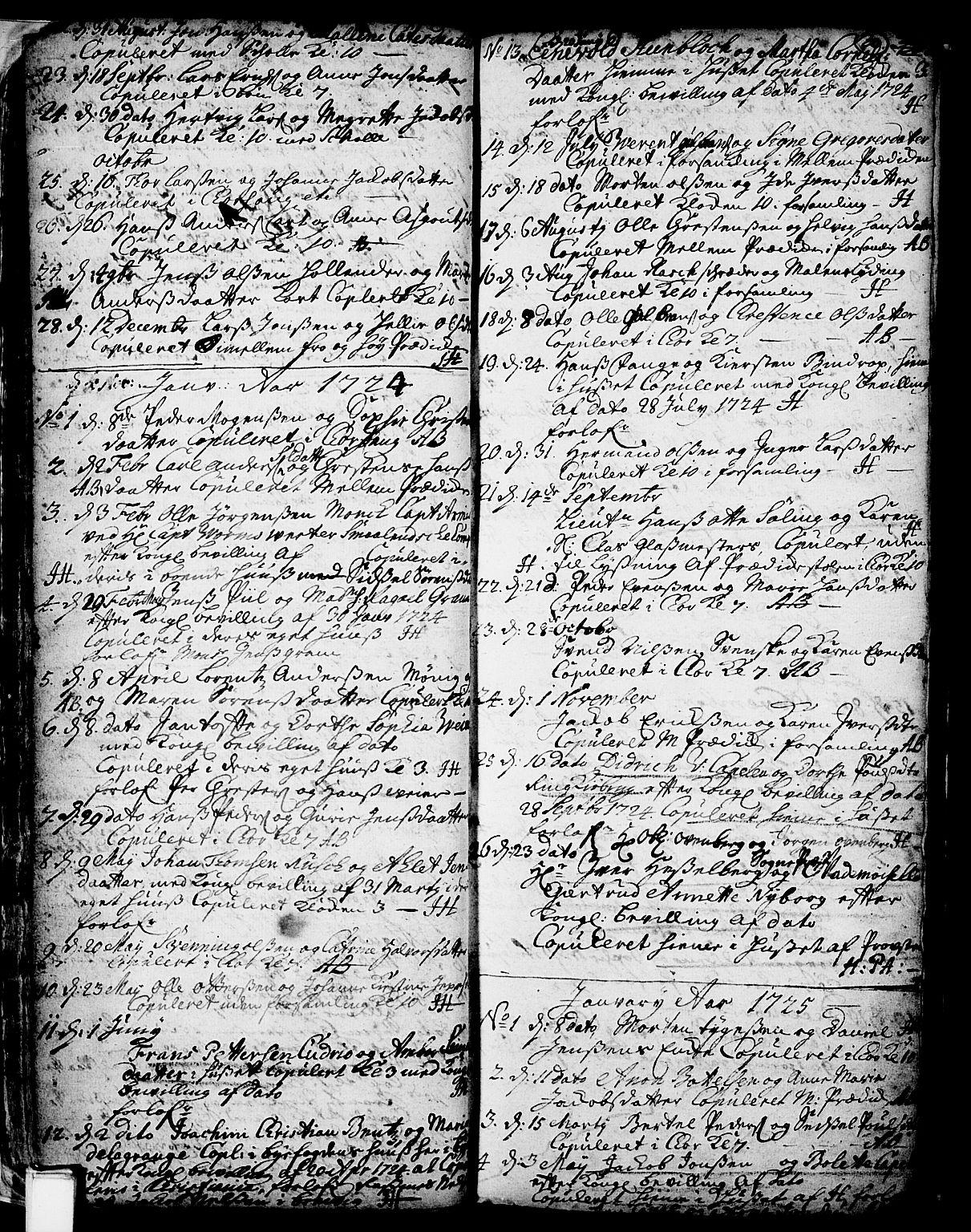 SAKO, Skien kirkebøker, F/Fa/L0002: Ministerialbok nr. 2, 1716-1757, s. 30