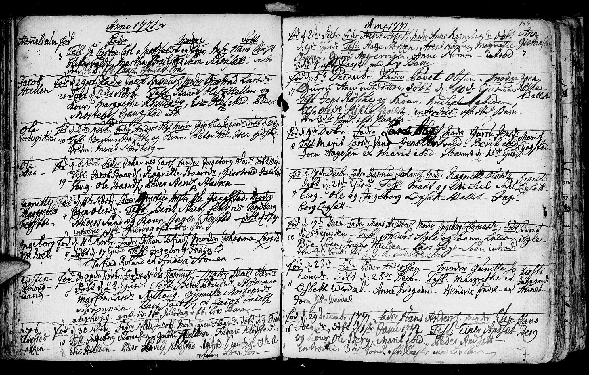 SAT, Ministerialprotokoller, klokkerbøker og fødselsregistre - Nord-Trøndelag, 730/L0273: Ministerialbok nr. 730A02, 1762-1802, s. 109
