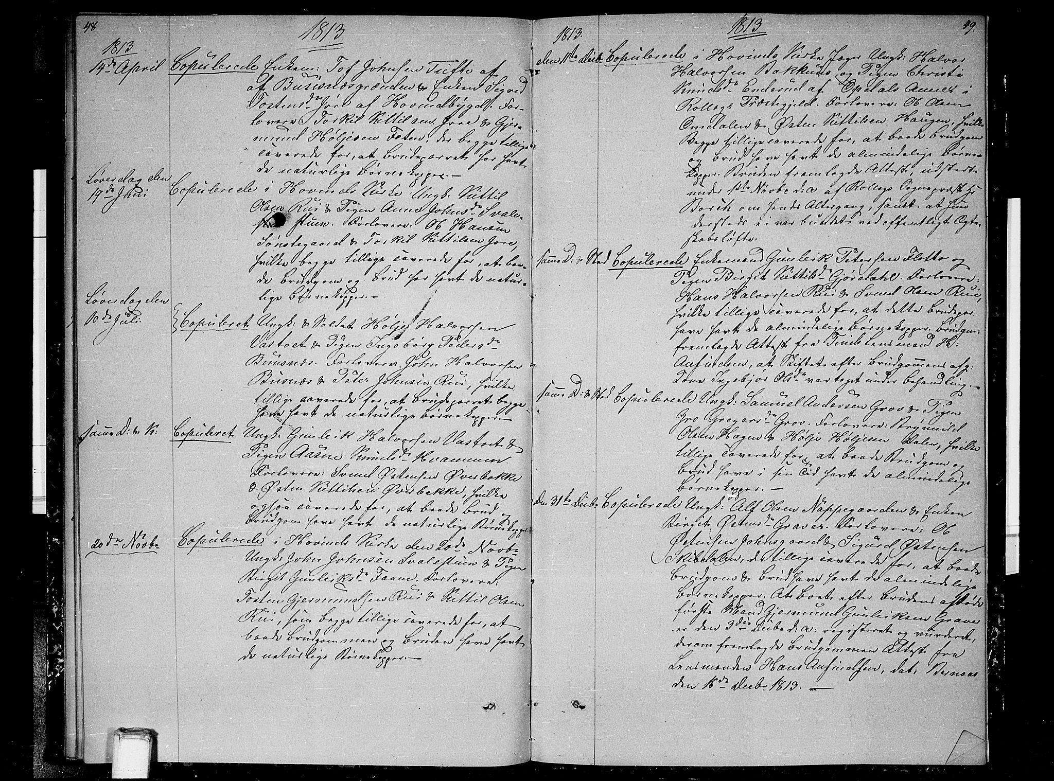 SAKO, Gransherad kirkebøker, F/Fb/L0001: Ministerialbok nr. II 1, 1800-1814, s. 48-49