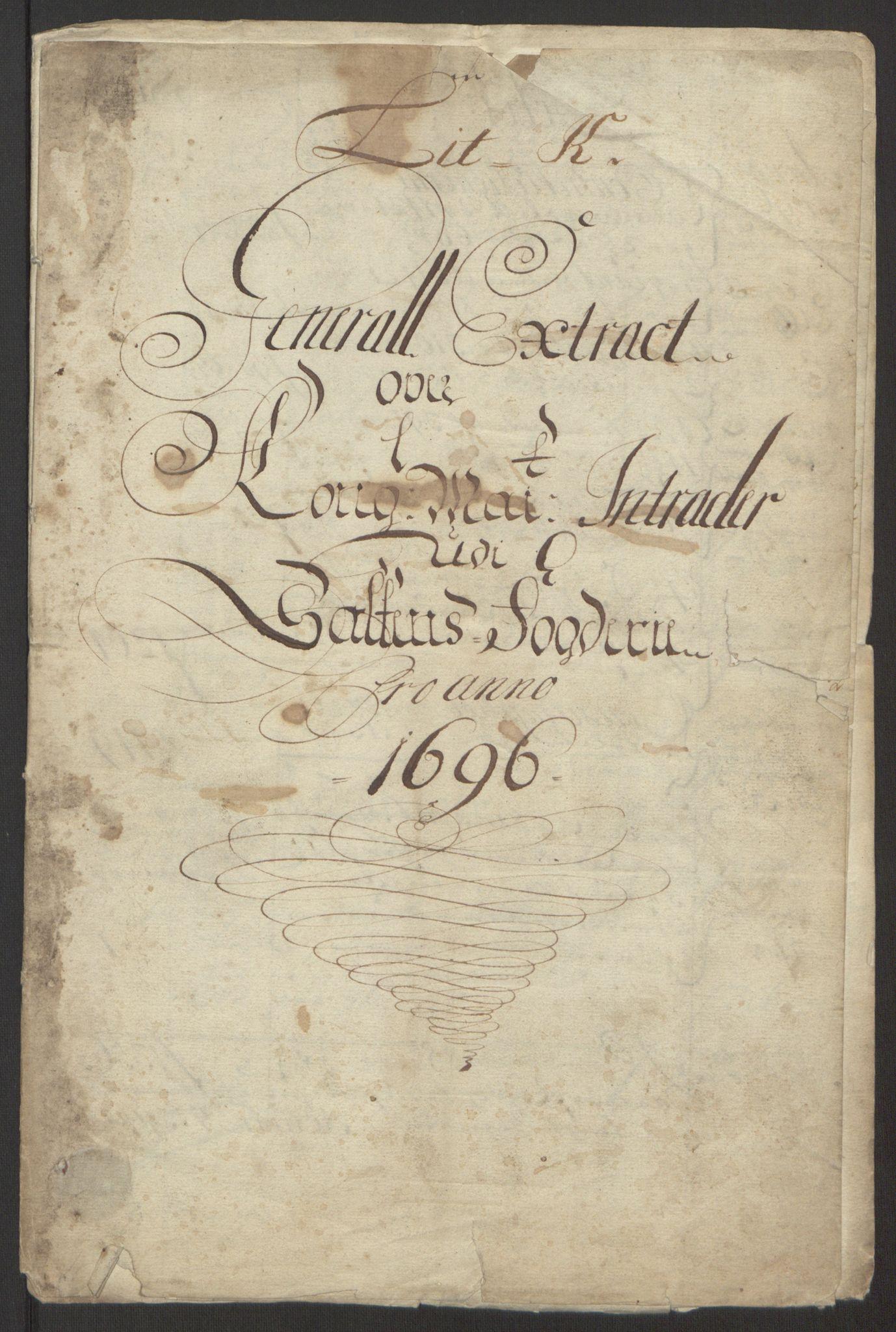 RA, Rentekammeret inntil 1814, Reviderte regnskaper, Fogderegnskap, R66/L4578: Fogderegnskap Salten, 1694-1696, s. 197