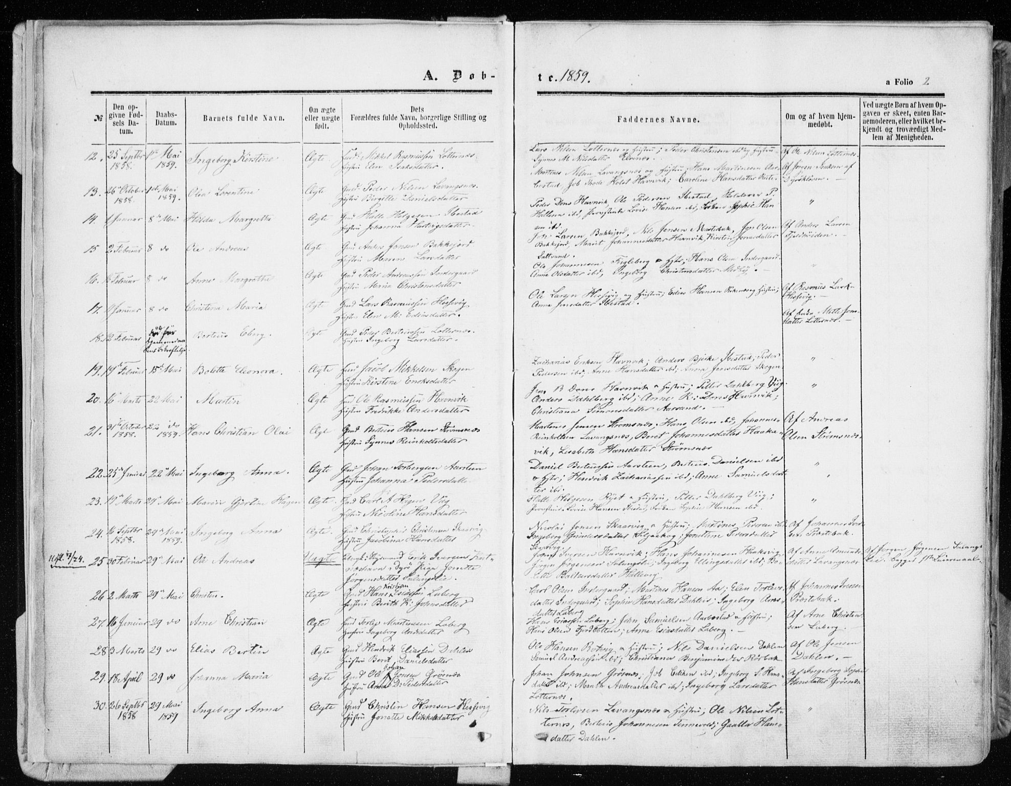 SATØ, Ibestad sokneprestembete, Ministerialbok nr. 9, 1859-1868, s. 2