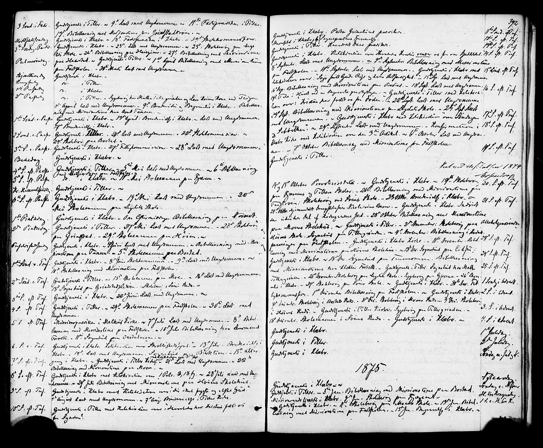 SAT, Ministerialprotokoller, klokkerbøker og fødselsregistre - Sør-Trøndelag, 618/L0442: Ministerialbok nr. 618A06 /1, 1863-1879, s. 392