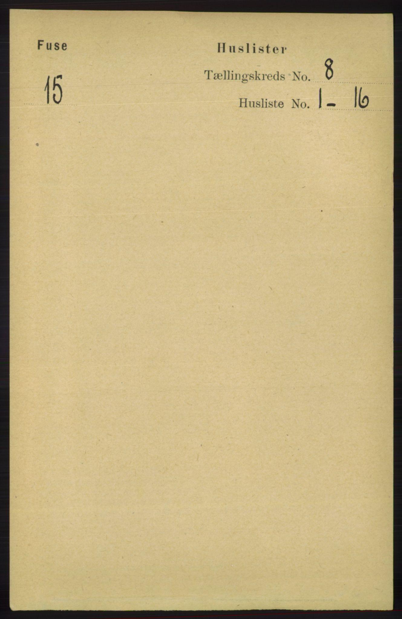 RA, Folketelling 1891 for 1241 Fusa herred, 1891, s. 1543