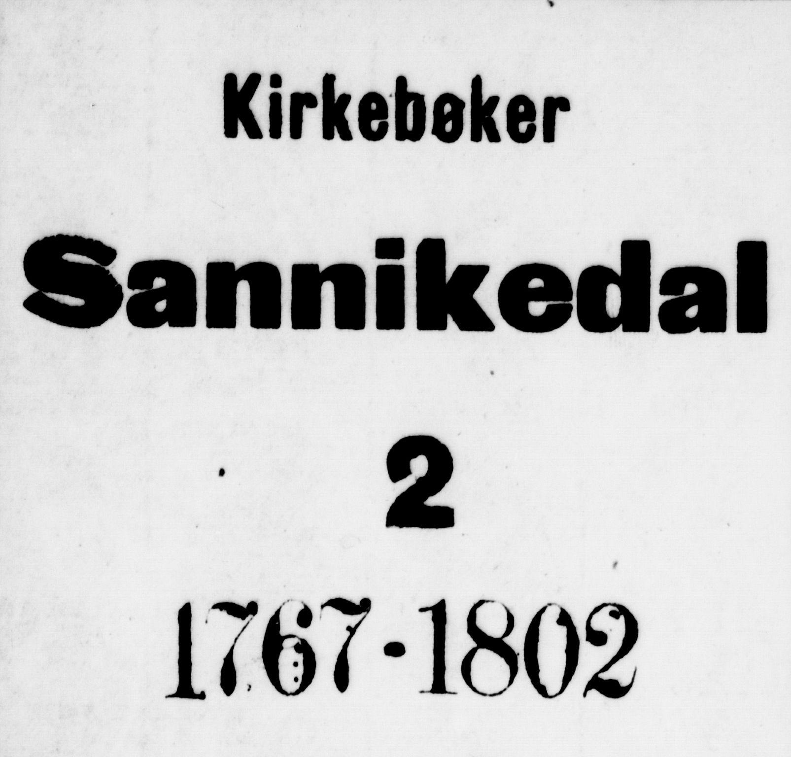 SAKO, Sannidal kirkebøker, F/Fa/L0002: Ministerialbok nr. 2, 1767-1802