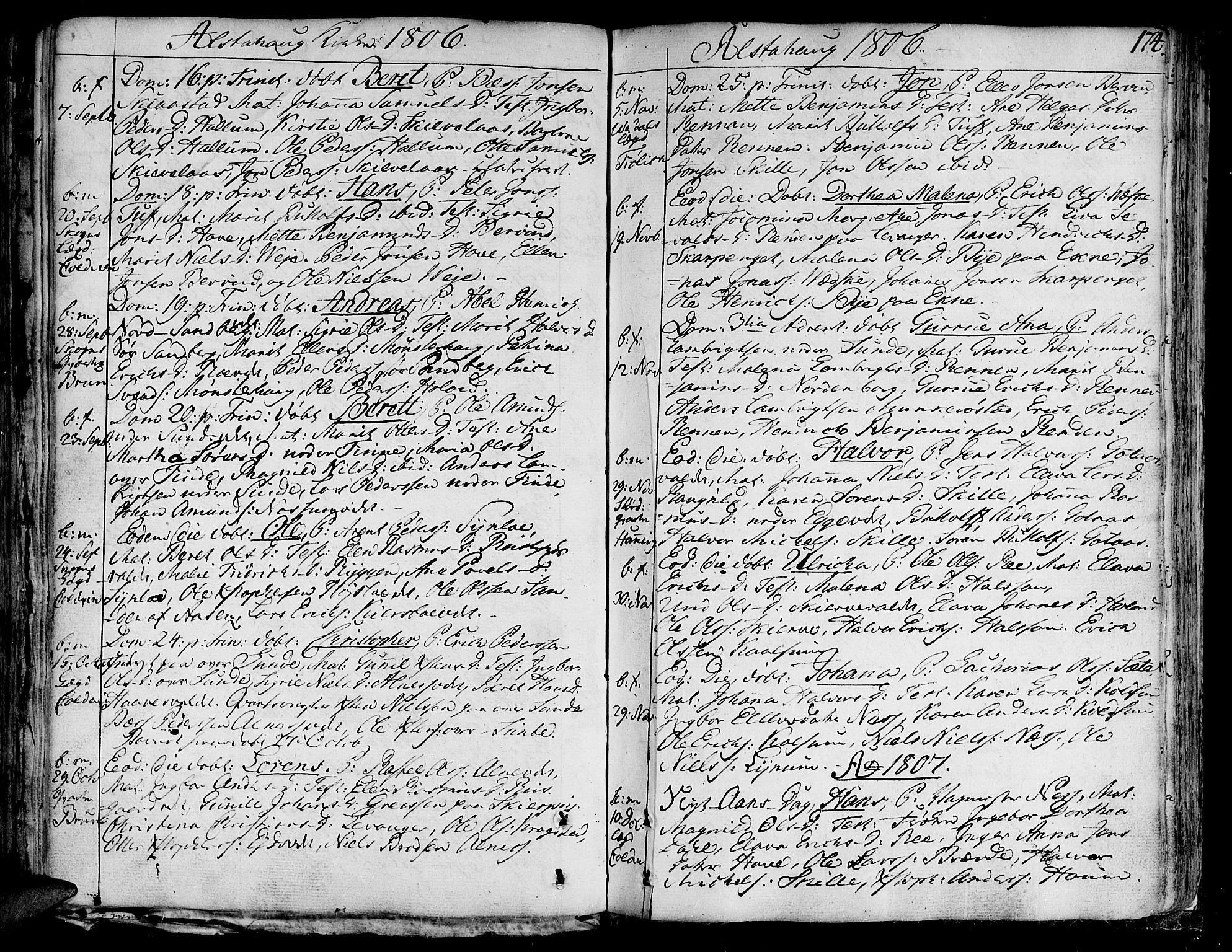 SAT, Ministerialprotokoller, klokkerbøker og fødselsregistre - Nord-Trøndelag, 717/L0142: Ministerialbok nr. 717A02 /1, 1783-1809, s. 174