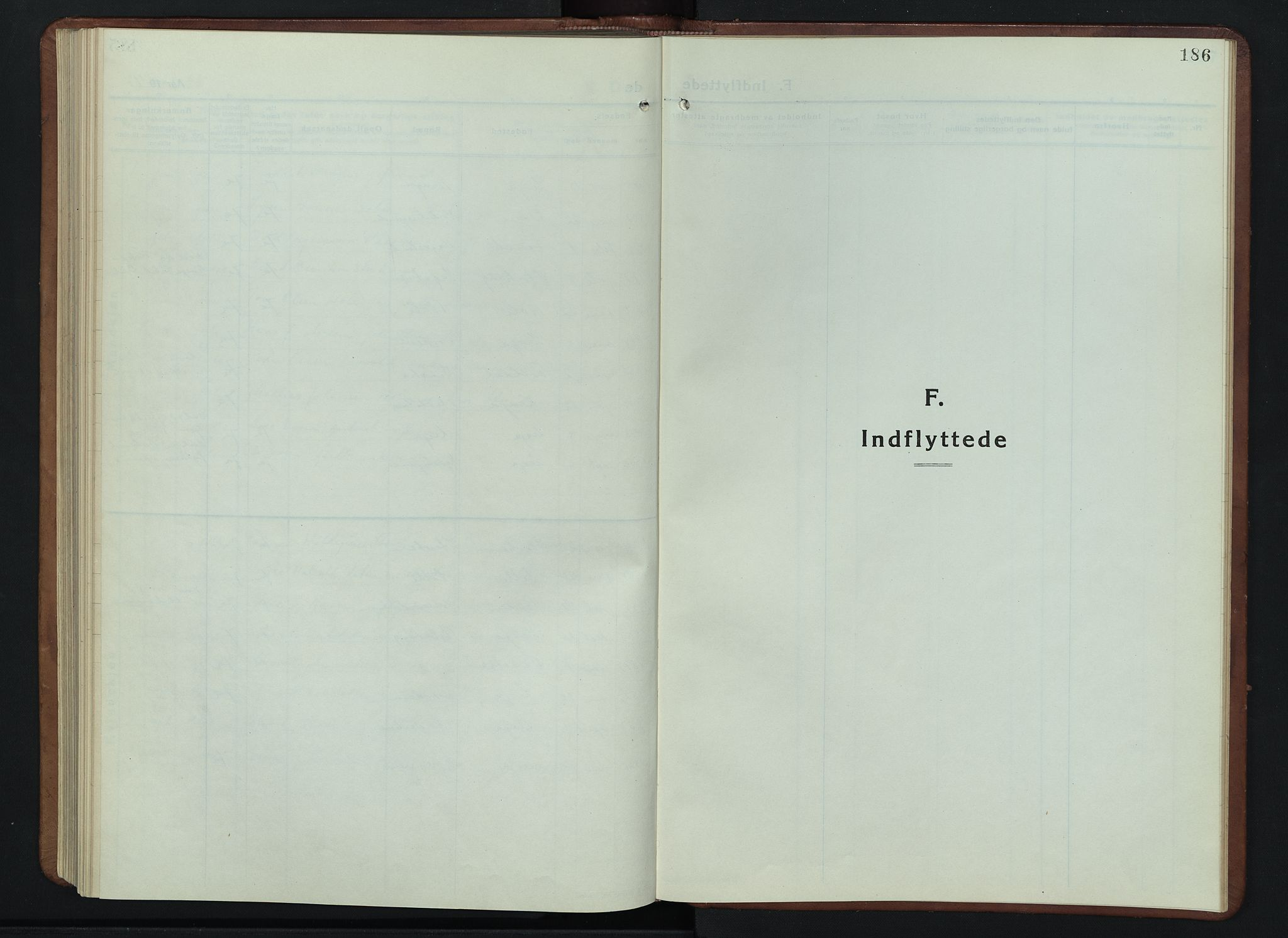 SAH, Lesja prestekontor, Klokkerbok nr. 9, 1924-1947, s. 186