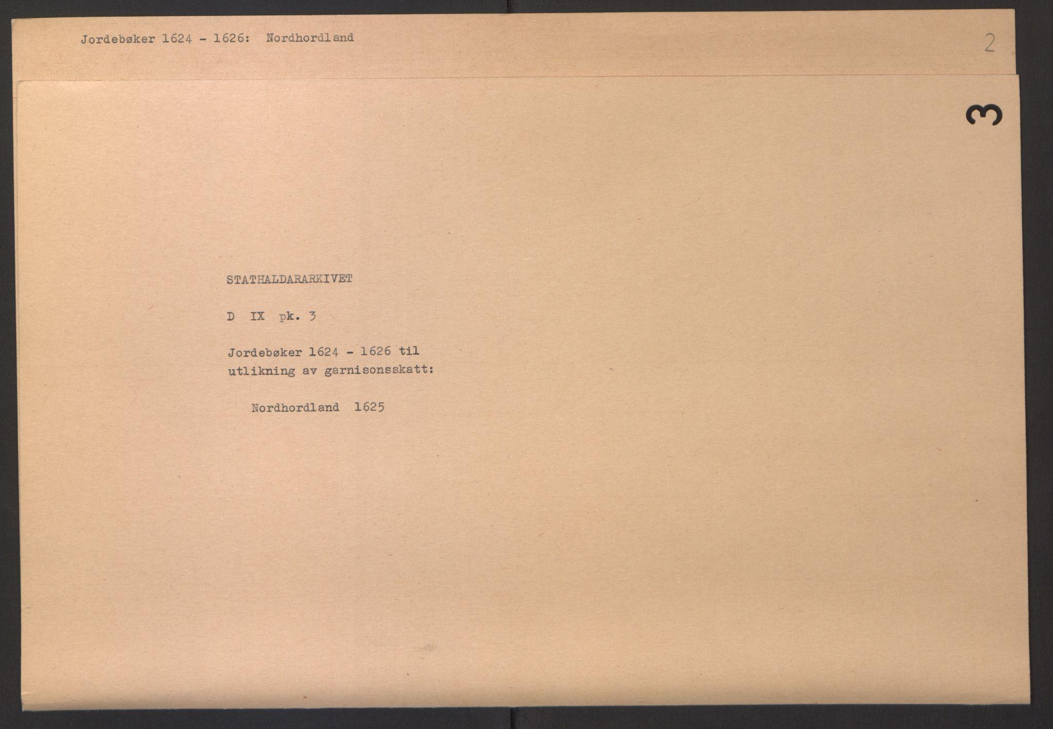 RA, Stattholderembetet 1572-1771, Ek/L0003: Jordebøker til utlikning av garnisonsskatt 1624-1626:, 1624-1625, s. 70