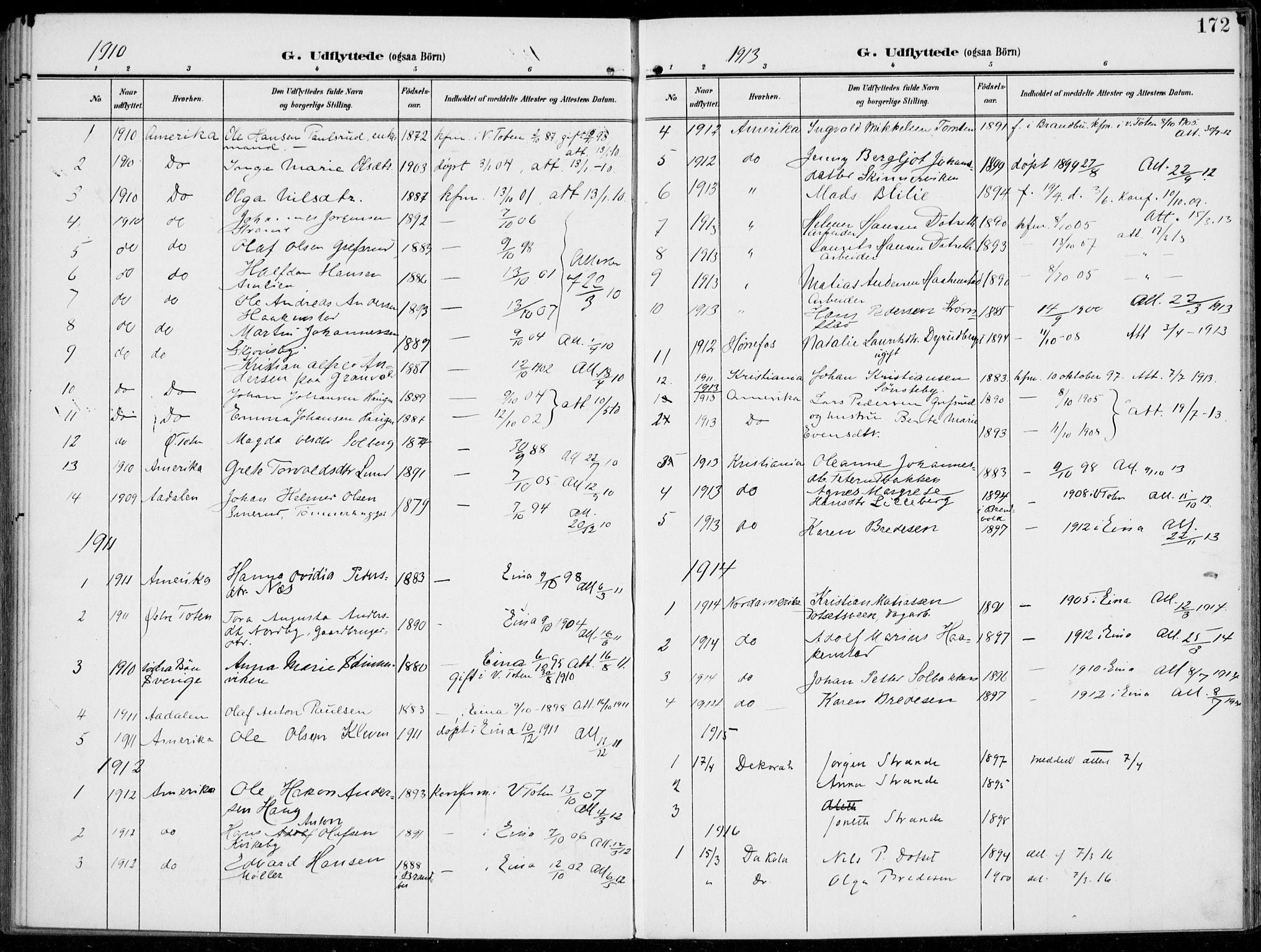 SAH, Kolbu prestekontor, Ministerialbok nr. 1, 1907-1923, s. 172