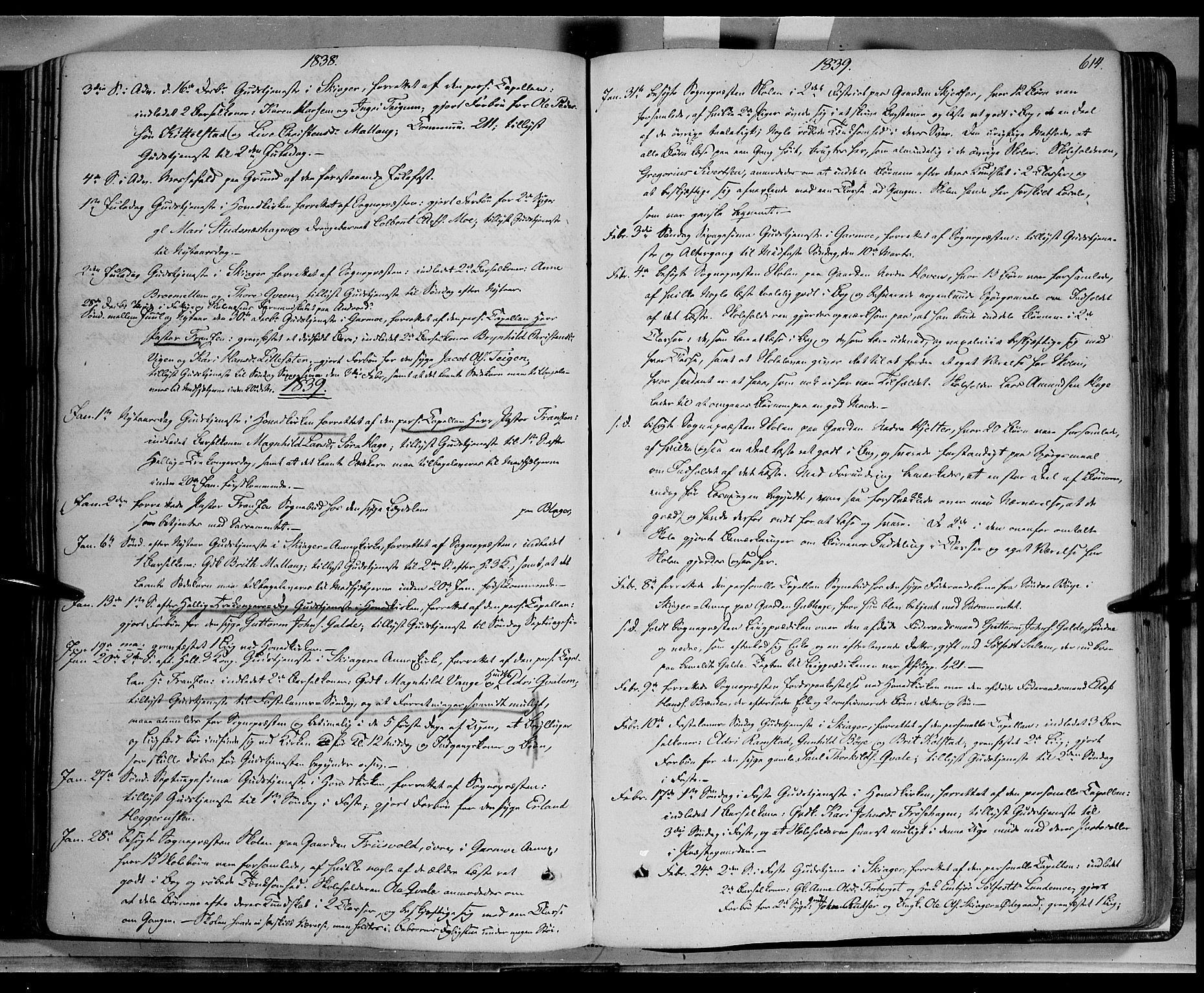 SAH, Lom prestekontor, K/L0006: Ministerialbok nr. 6B, 1837-1863, s. 614