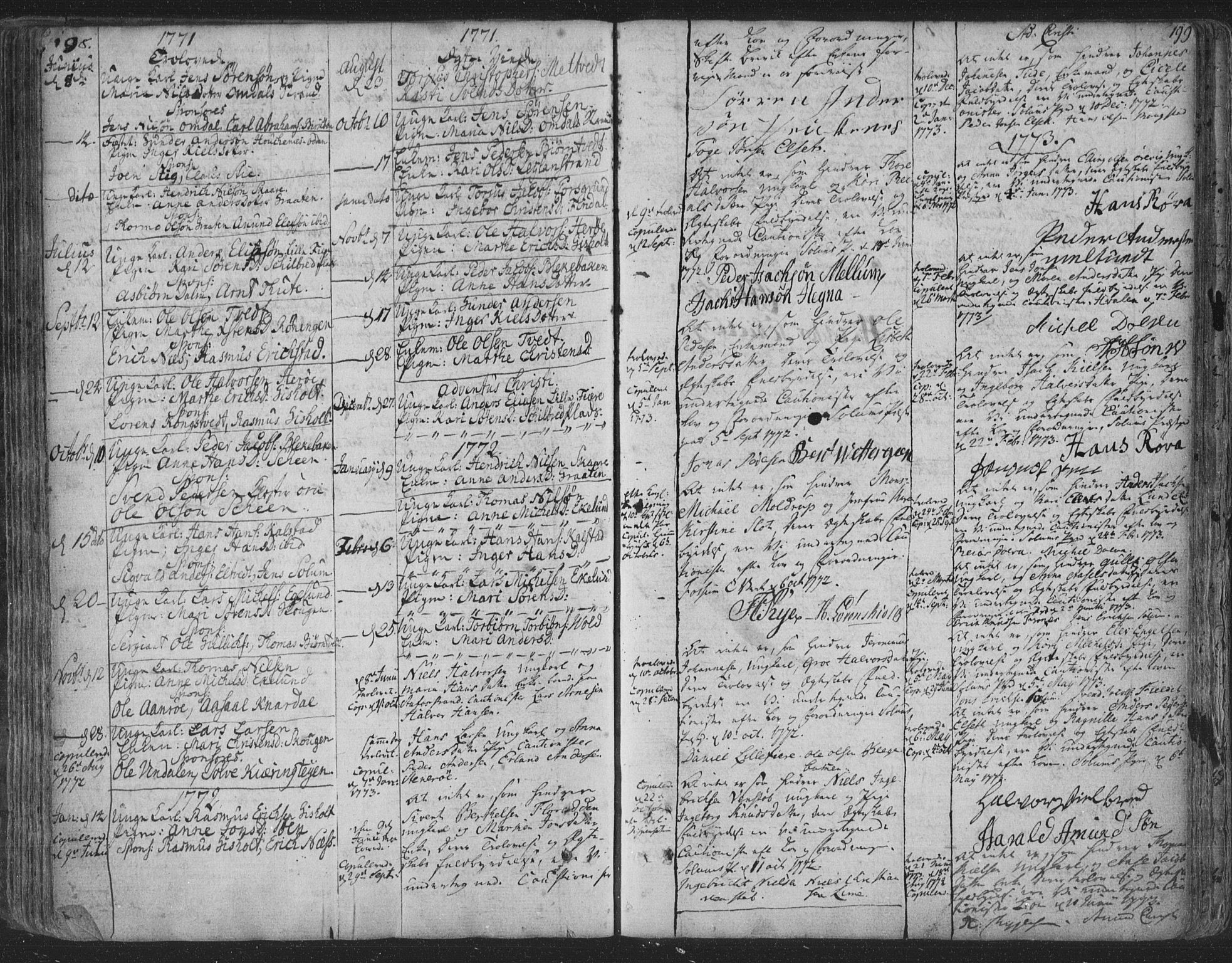 SAKO, Solum kirkebøker, F/Fa/L0003: Ministerialbok nr. I 3, 1761-1814, s. 198-199
