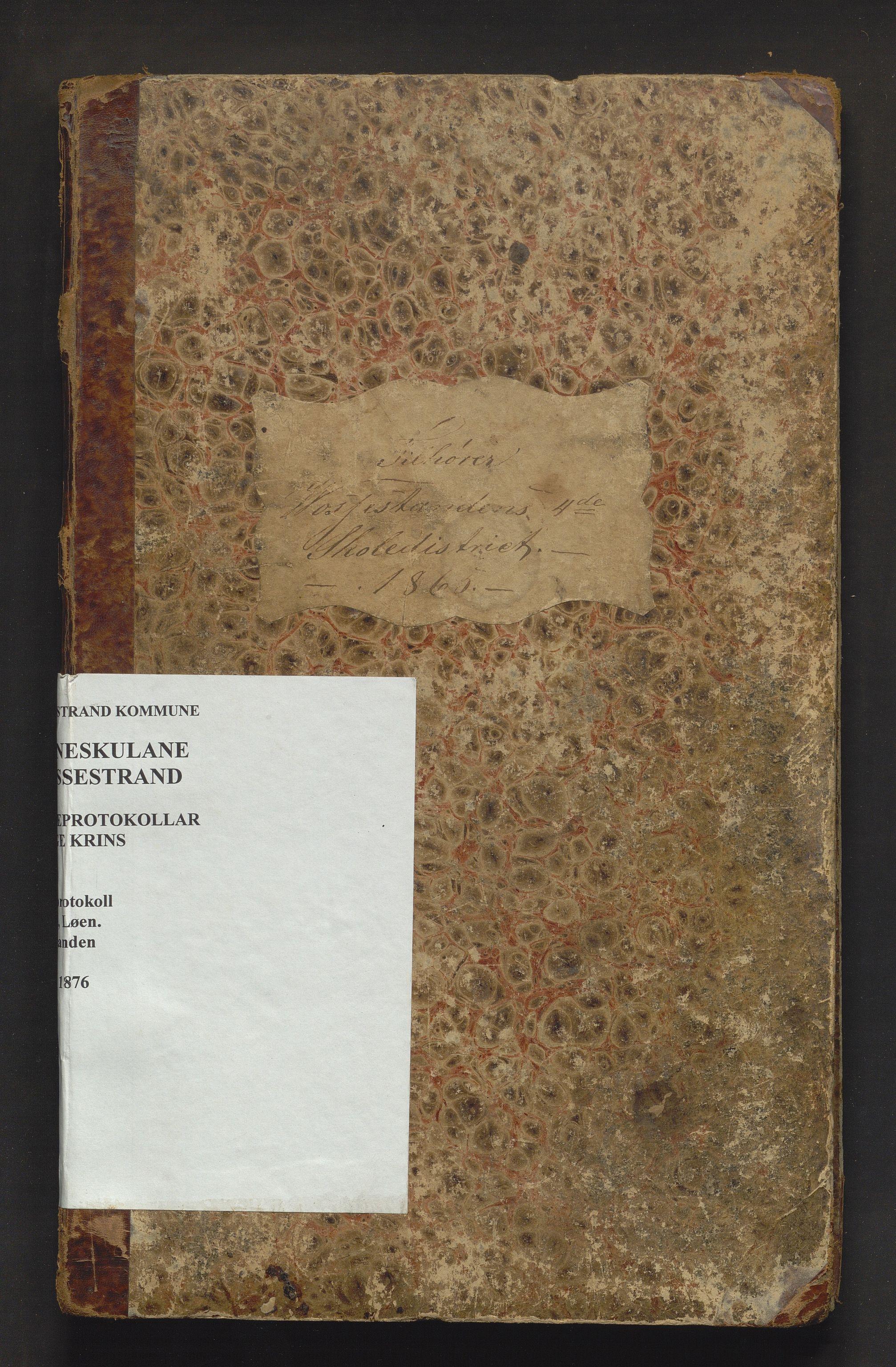 IKAH, Vossestrand kommune. Barneskulane , F/Fb/L0001: Skuleprotokoll for Hauge, Løen og Vasstranden krinsar , 1865-1876