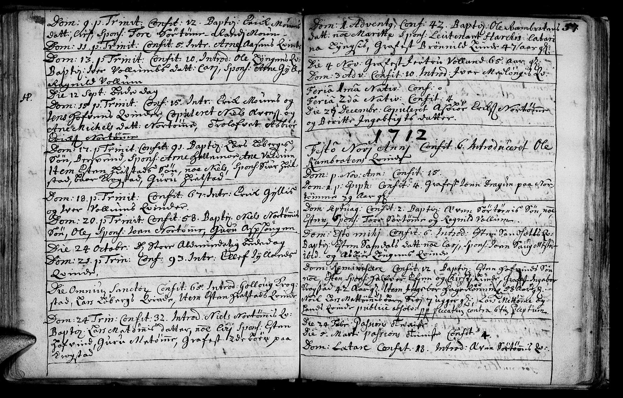 SAT, Ministerialprotokoller, klokkerbøker og fødselsregistre - Sør-Trøndelag, 692/L1101: Ministerialbok nr. 692A01, 1690-1746, s. 57