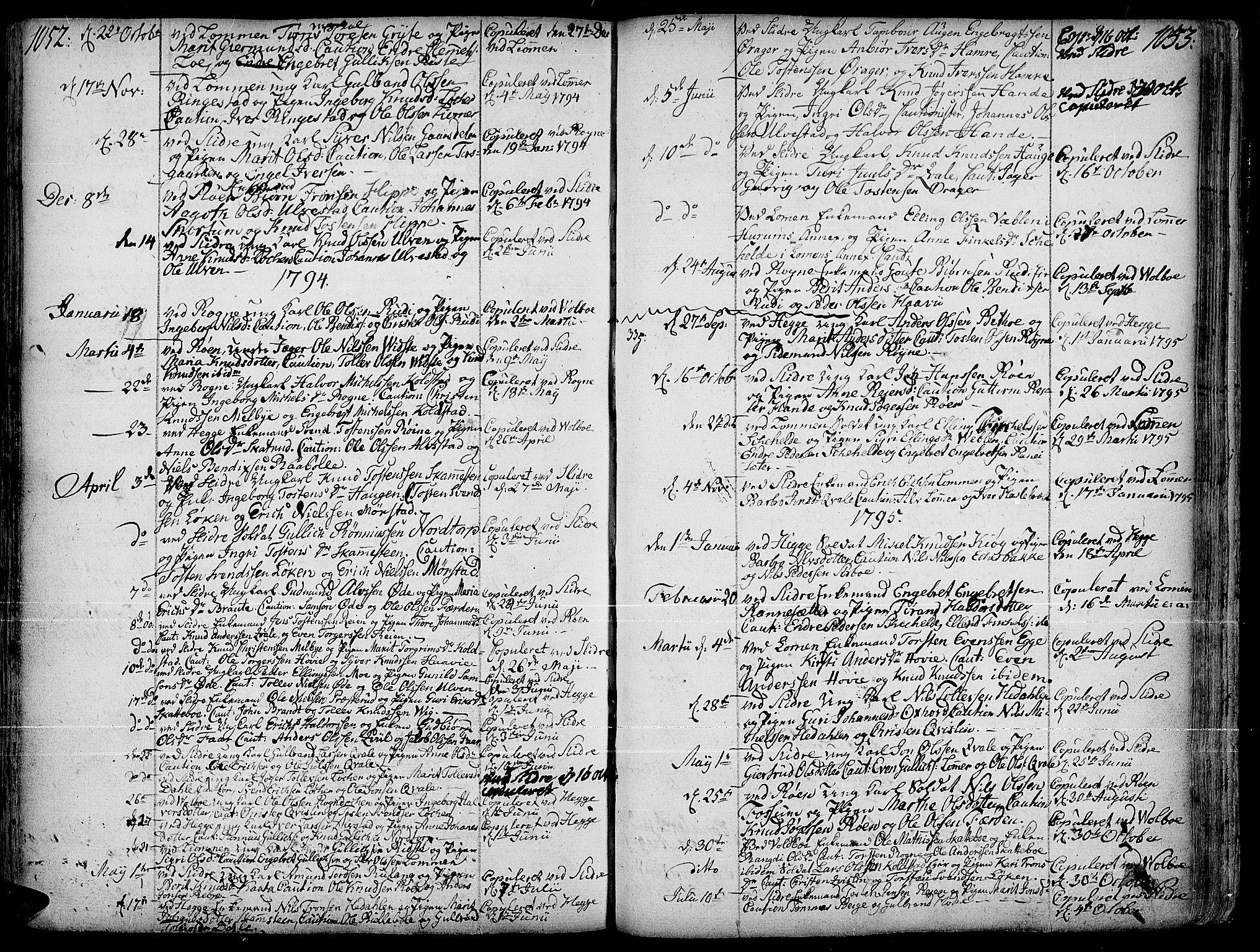 SAH, Slidre prestekontor, Ministerialbok nr. 1, 1724-1814, s. 1052-1053