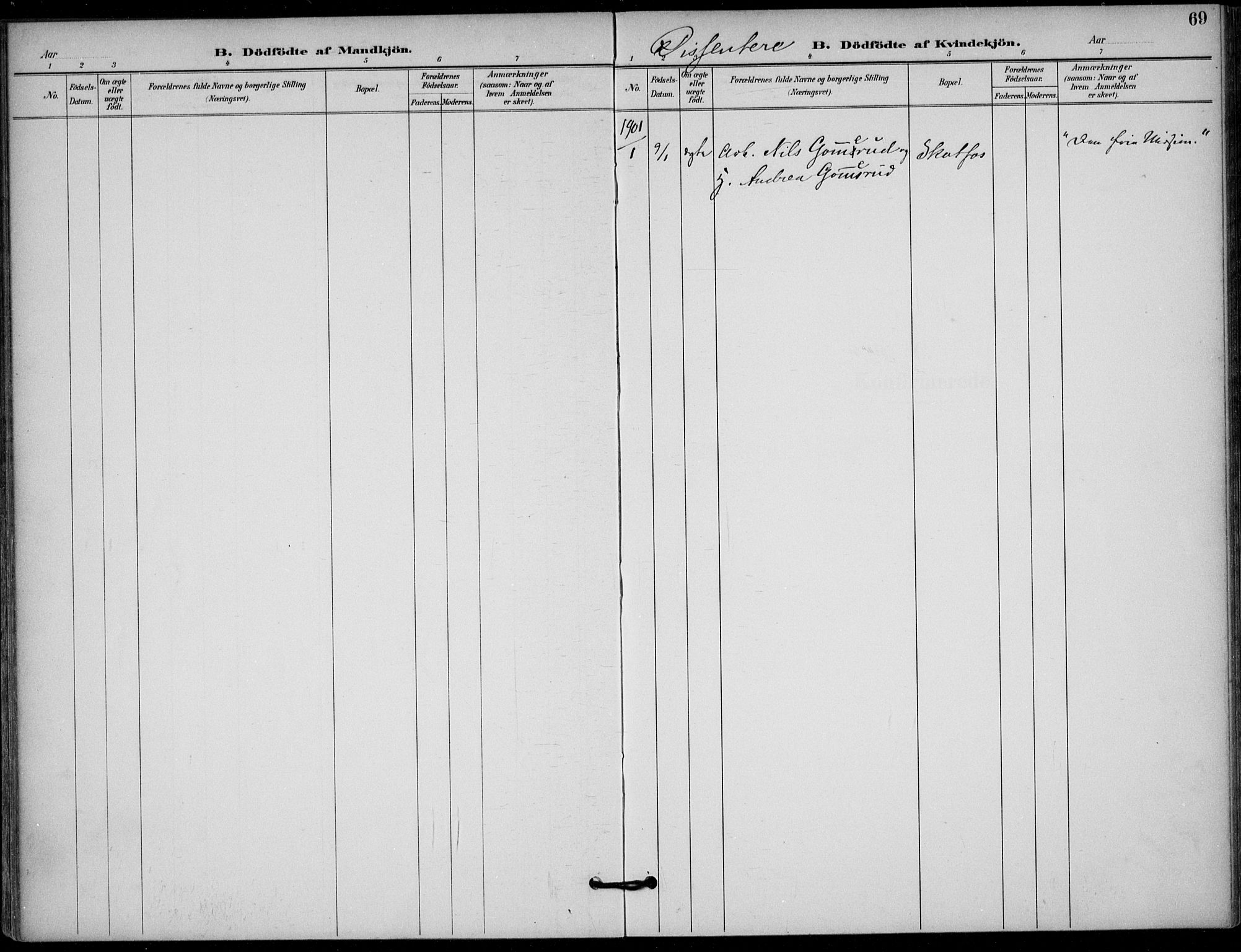 SAKO, Solum kirkebøker, F/Fb/L0002: Ministerialbok nr. II 2, 1893-1901, s. 69