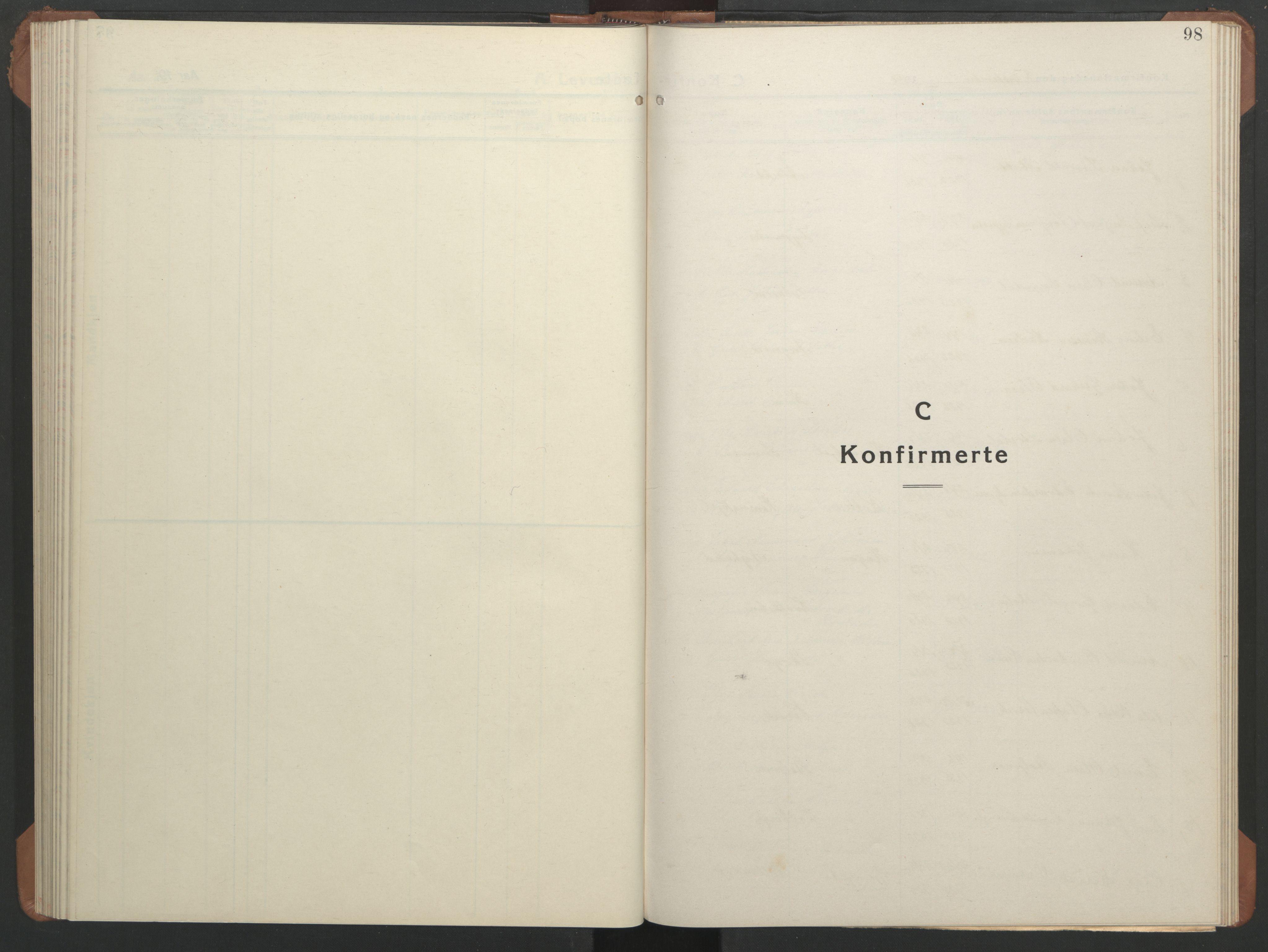 SAT, Ministerialprotokoller, klokkerbøker og fødselsregistre - Sør-Trøndelag, 633/L0521: Klokkerbok nr. 633C03, 1921-1941, s. 98