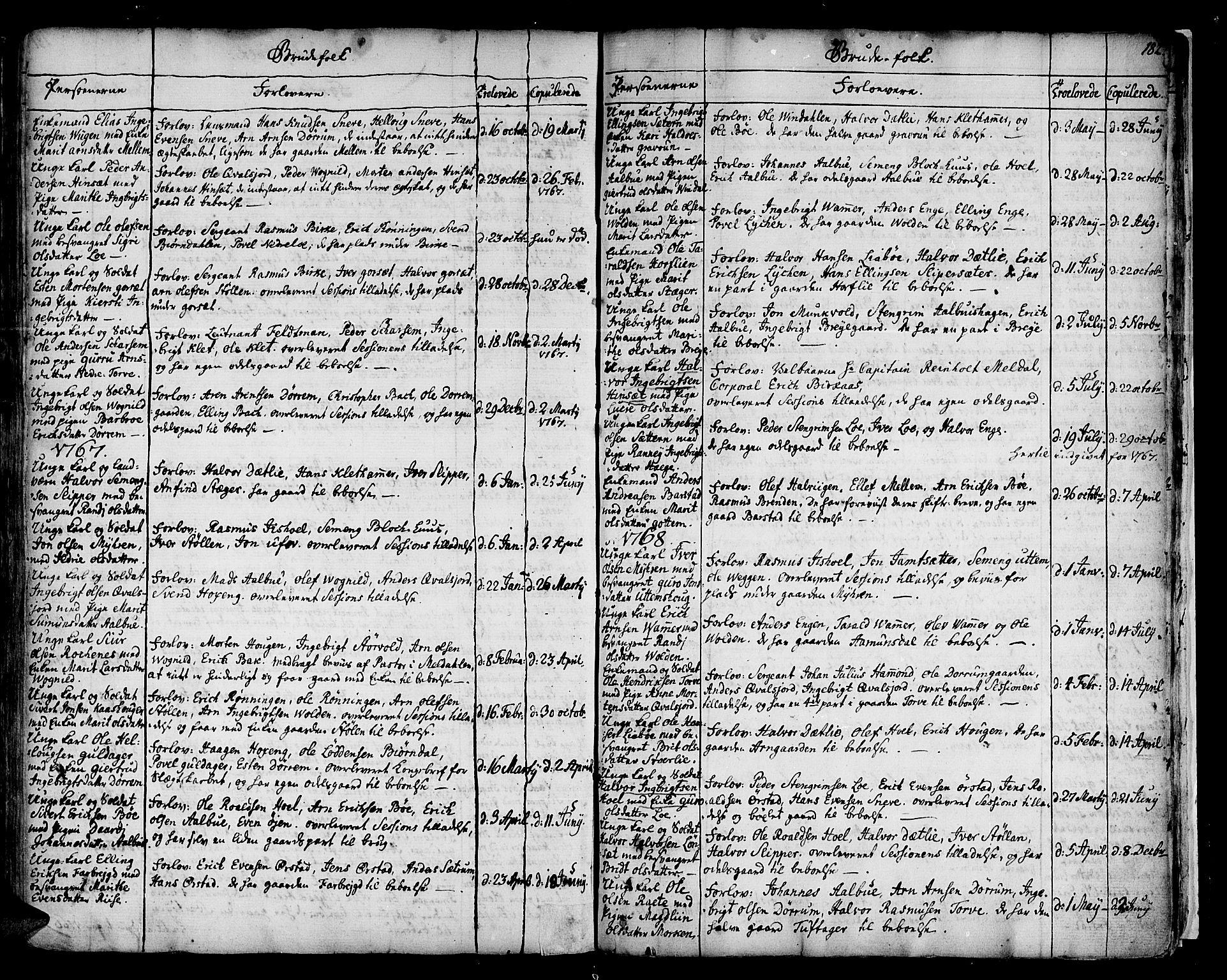 SAT, Ministerialprotokoller, klokkerbøker og fødselsregistre - Sør-Trøndelag, 678/L0891: Ministerialbok nr. 678A01, 1739-1780, s. 182