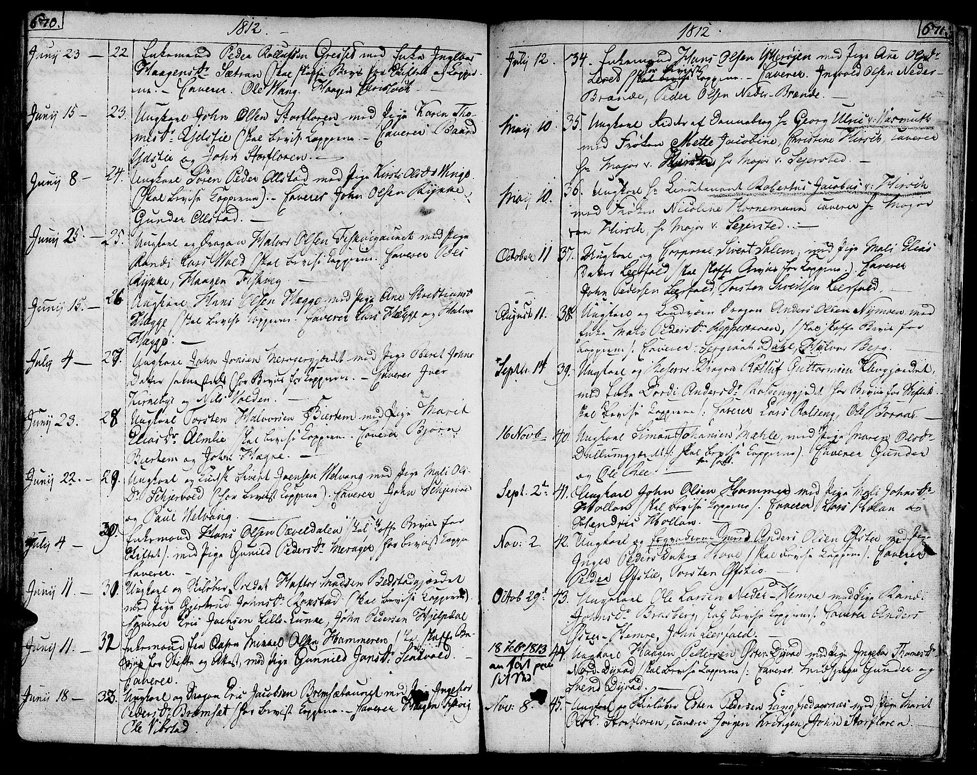 SAT, Ministerialprotokoller, klokkerbøker og fødselsregistre - Nord-Trøndelag, 709/L0060: Ministerialbok nr. 709A07, 1797-1815, s. 670-671