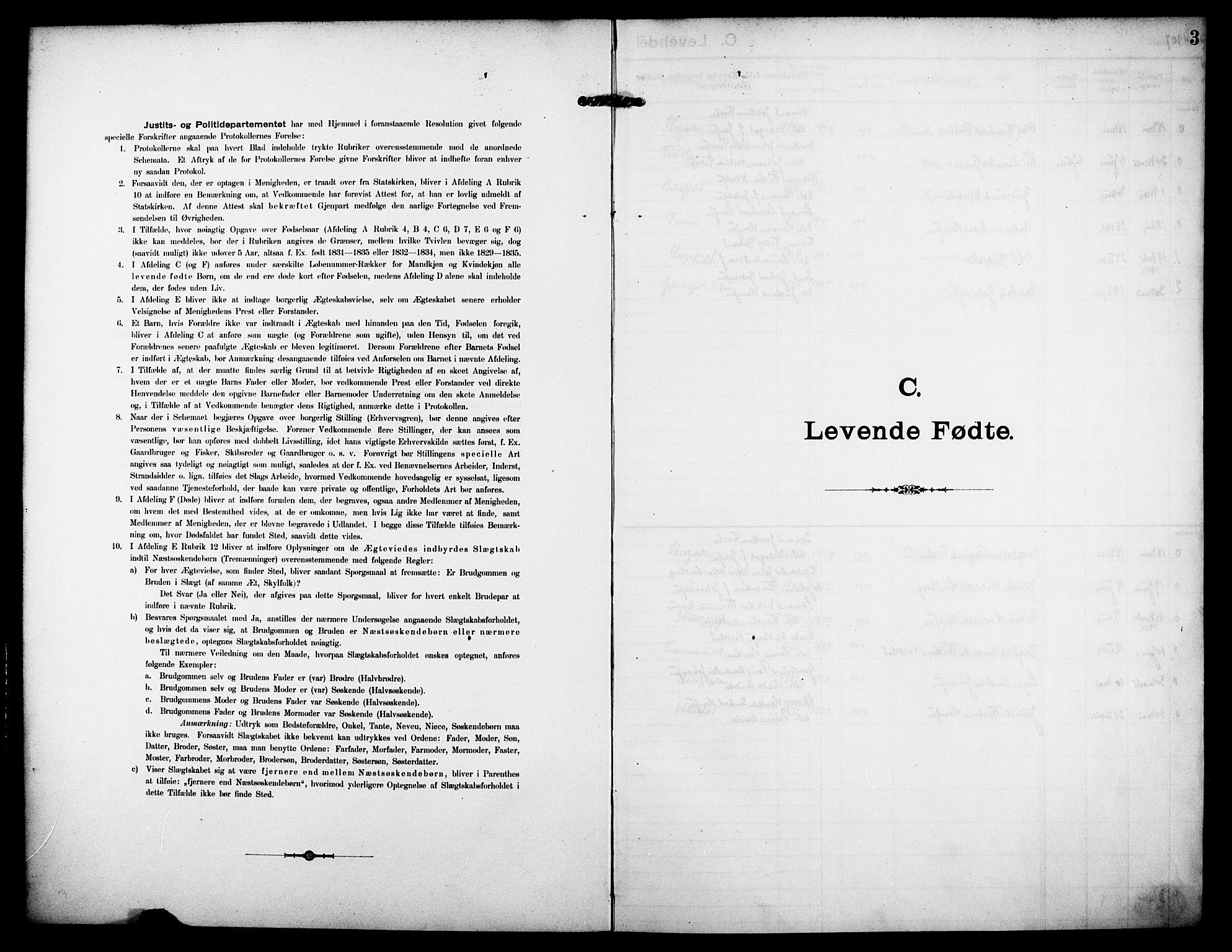 SATØ, Tromsø sokneprestkontor/stiftsprosti/domprosti, G/Ge/L0068: Dissenterprotokoll nr. 68, 1907-1917, s. 3