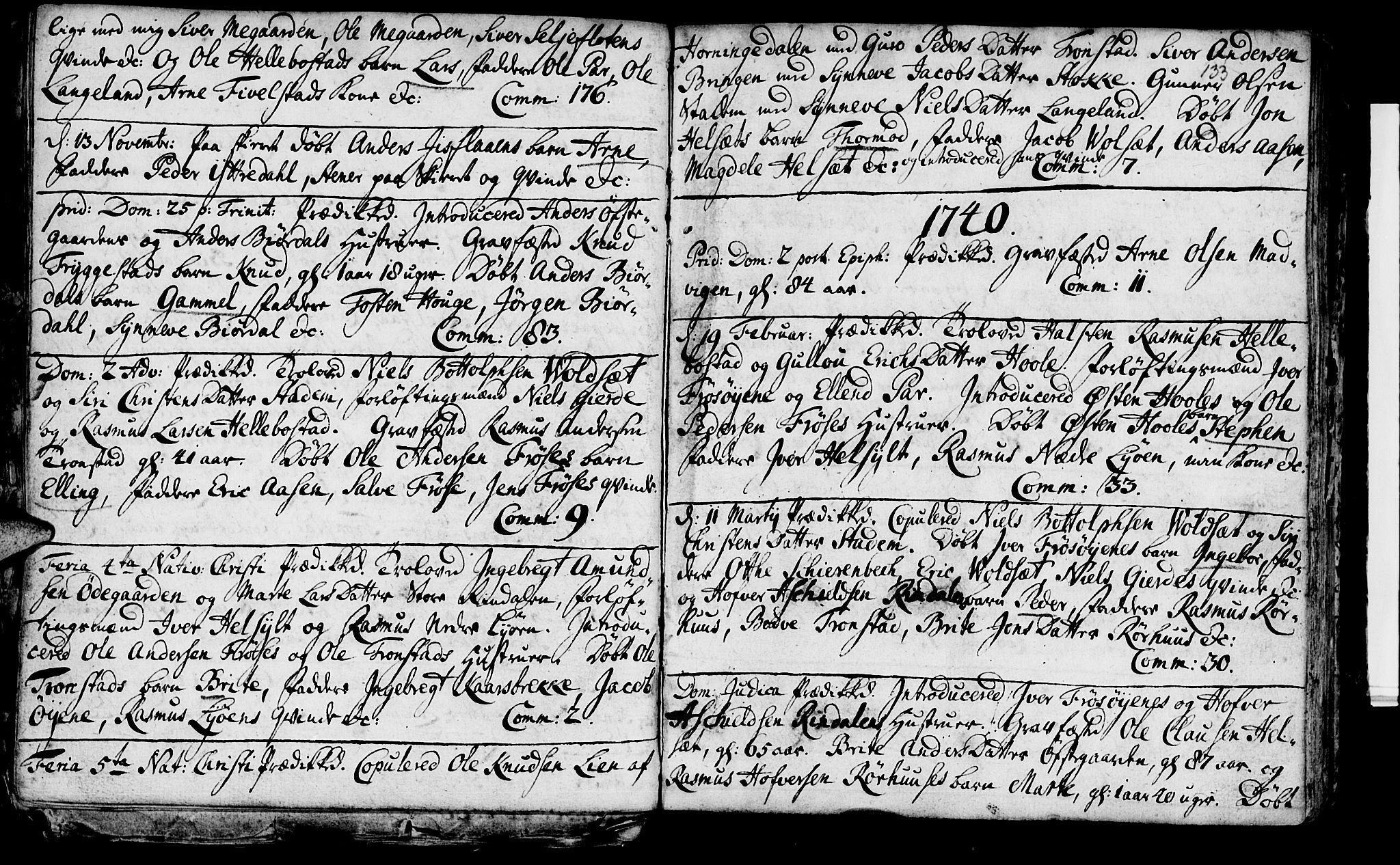 SAT, Ministerialprotokoller, klokkerbøker og fødselsregistre - Møre og Romsdal, 519/L0241: Ministerialbok nr. 519A01 /2, 1736-1760, s. 133