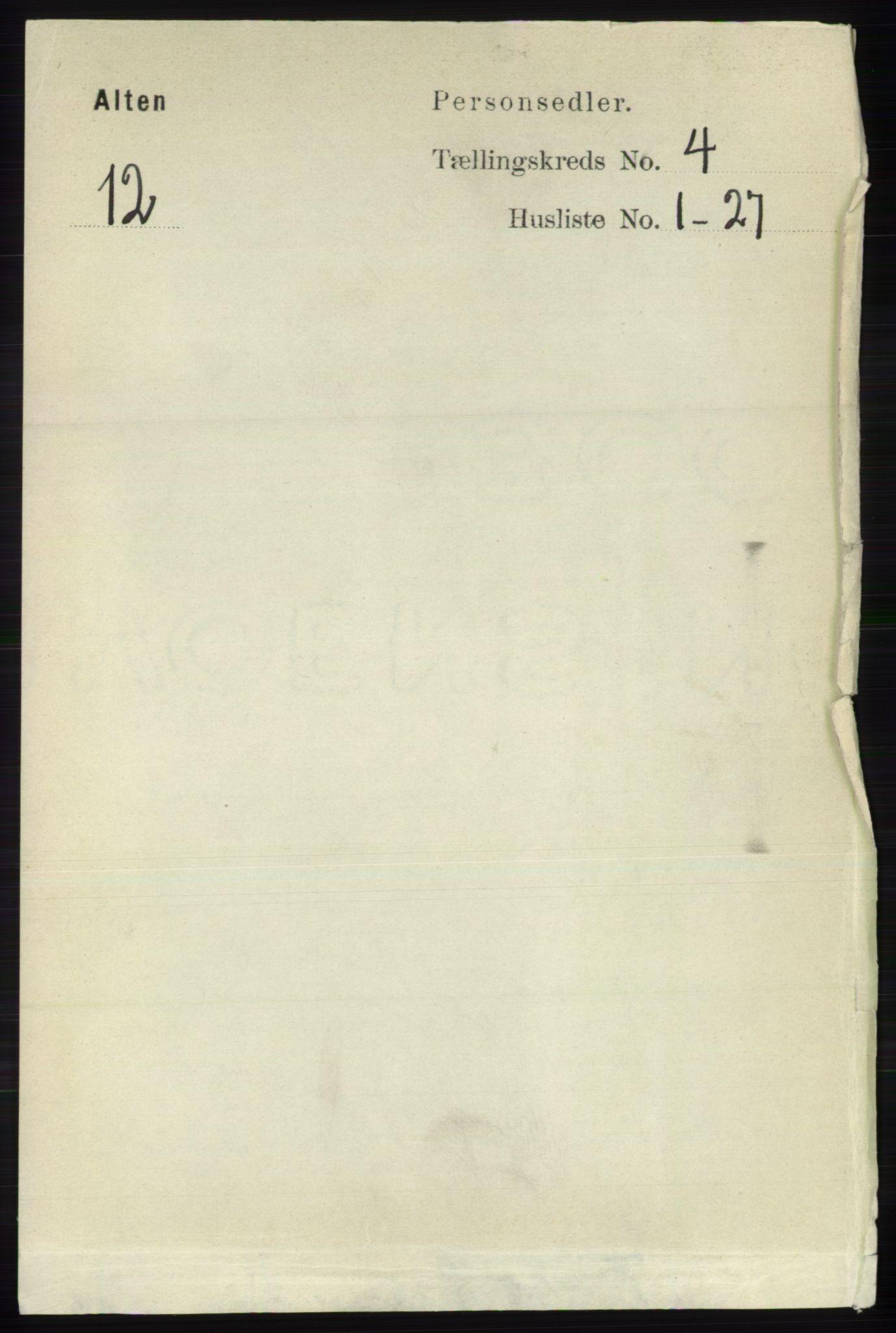 RA, Folketelling 1891 for 2012 Alta herred, 1891, s. 1360