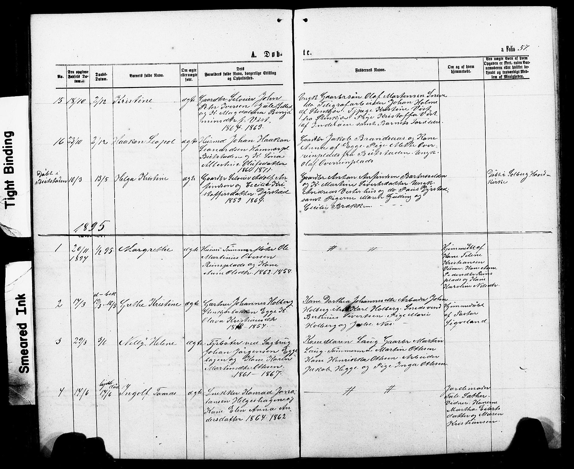 SAT, Ministerialprotokoller, klokkerbøker og fødselsregistre - Nord-Trøndelag, 740/L0380: Klokkerbok nr. 740C01, 1868-1902, s. 57