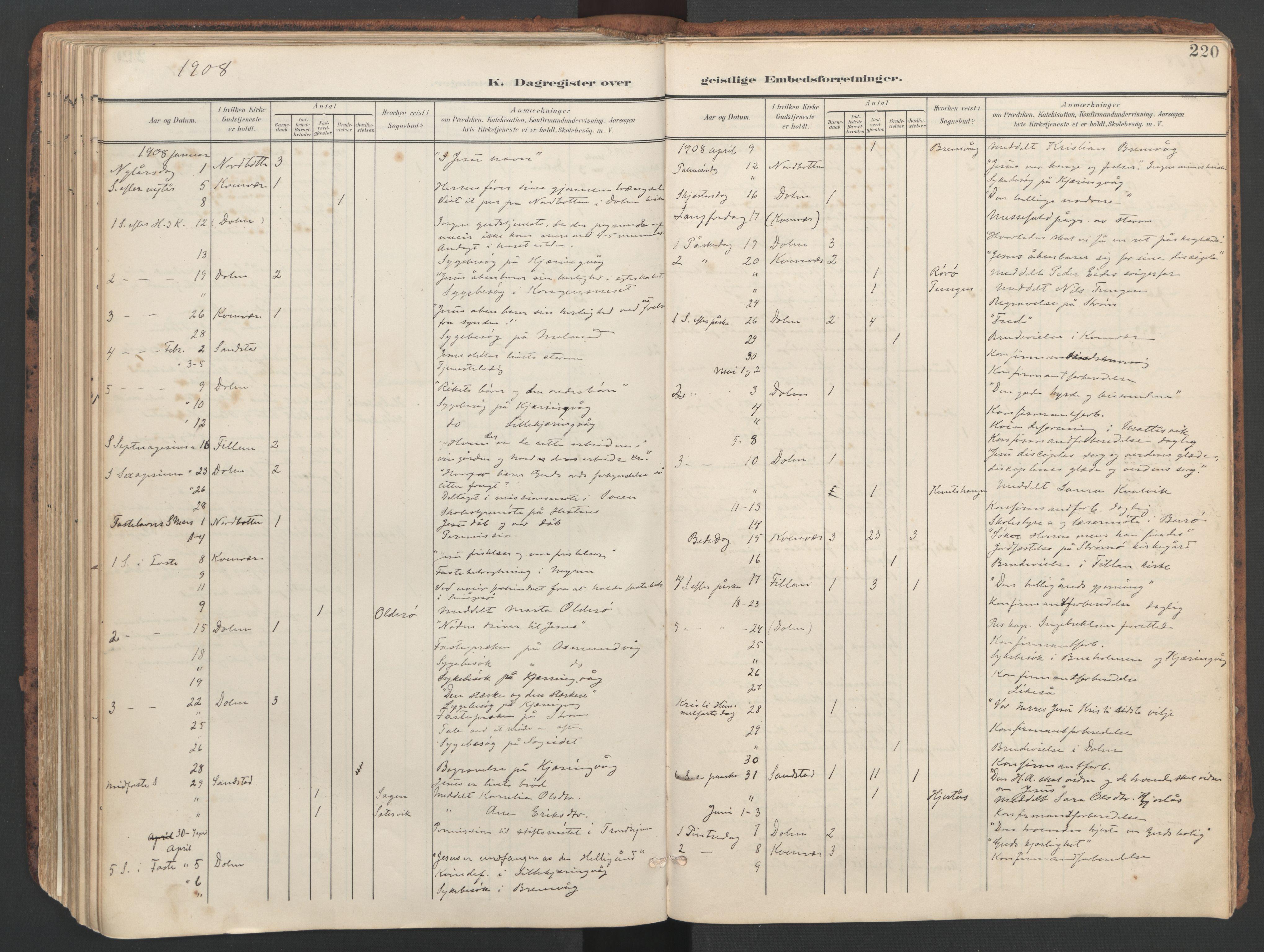 SAT, Ministerialprotokoller, klokkerbøker og fødselsregistre - Sør-Trøndelag, 634/L0537: Ministerialbok nr. 634A13, 1896-1922, s. 220