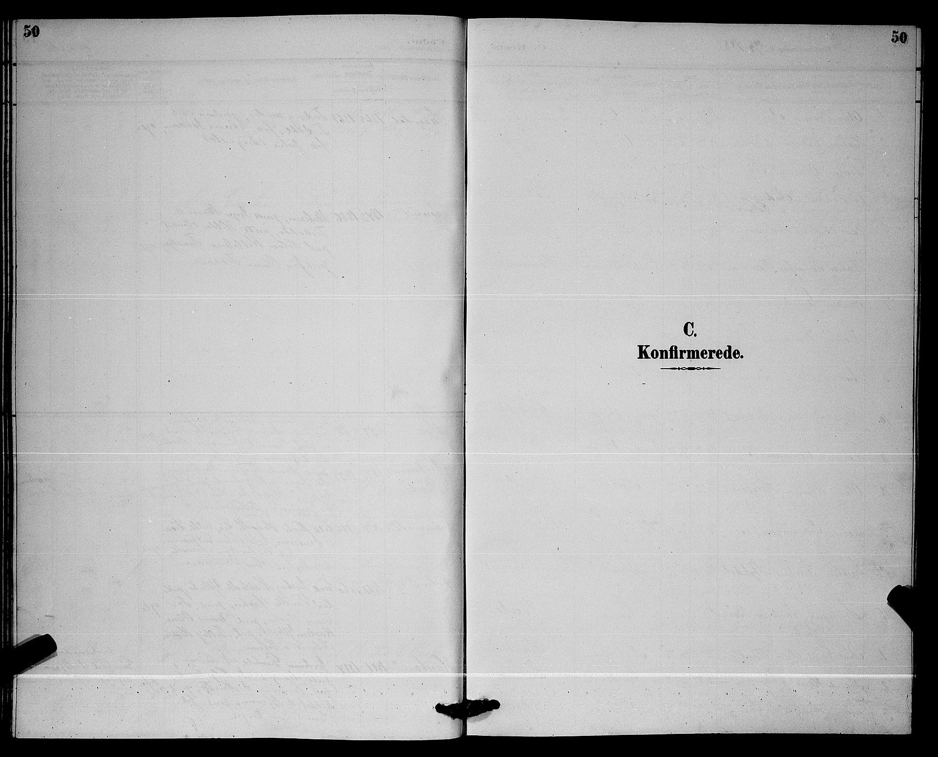 SAKO, Lunde kirkebøker, G/Ga/L0002: Klokkerbok nr. I 2, 1887-1896, s. 50
