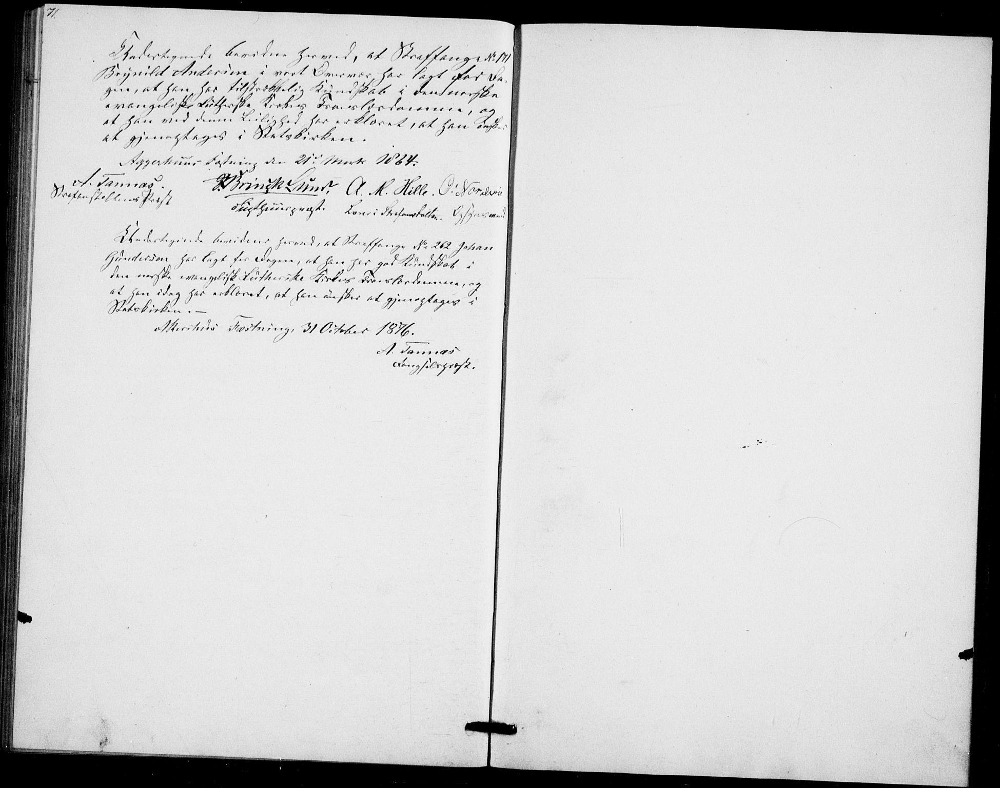 SAO, Akershus festnings slaveri Kirkebøker, F/Fa/L0002: Ministerialbok nr. 2, 1852-1883, s. 71