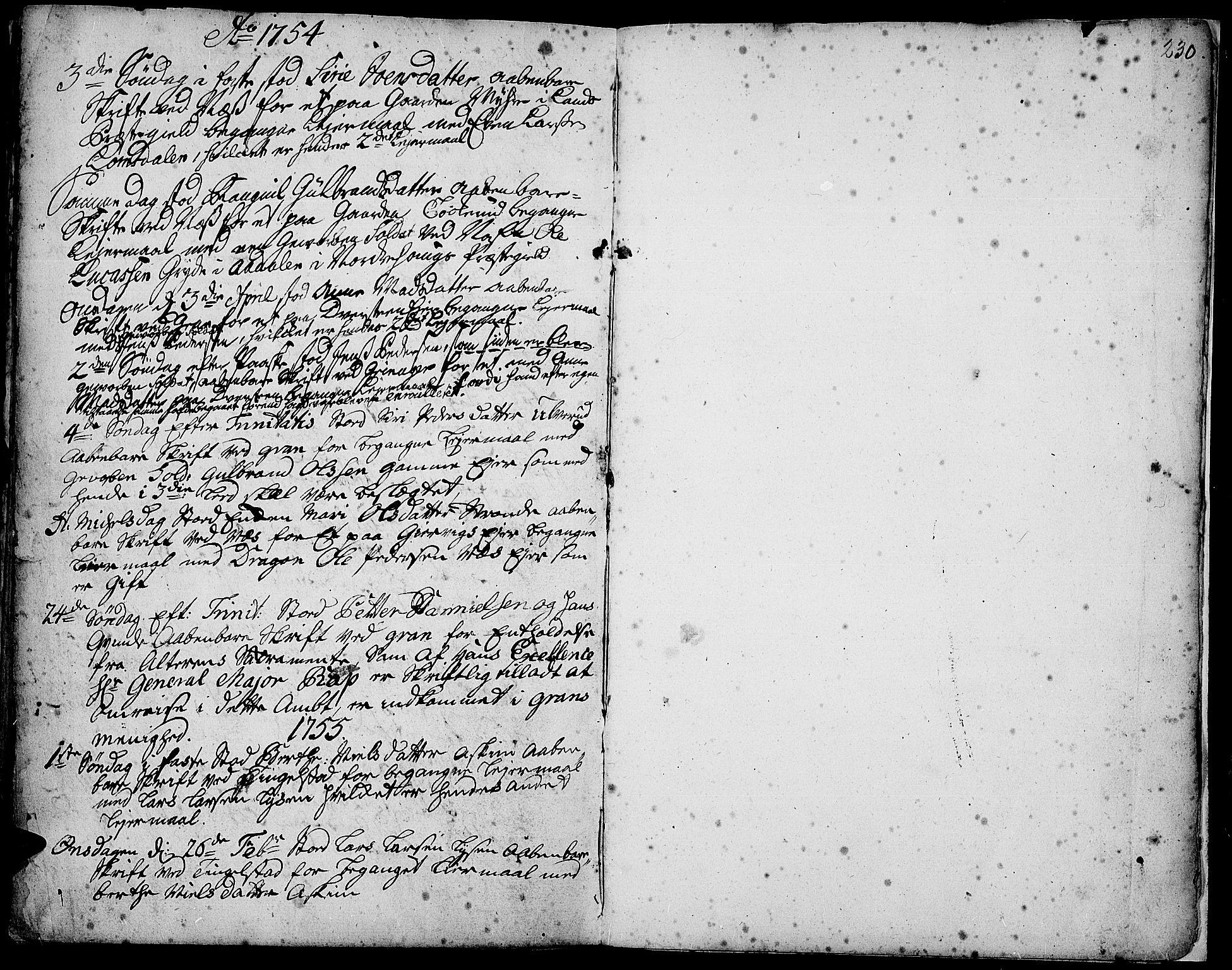 SAH, Gran prestekontor, Ministerialbok nr. 3, 1745-1758, s. 230