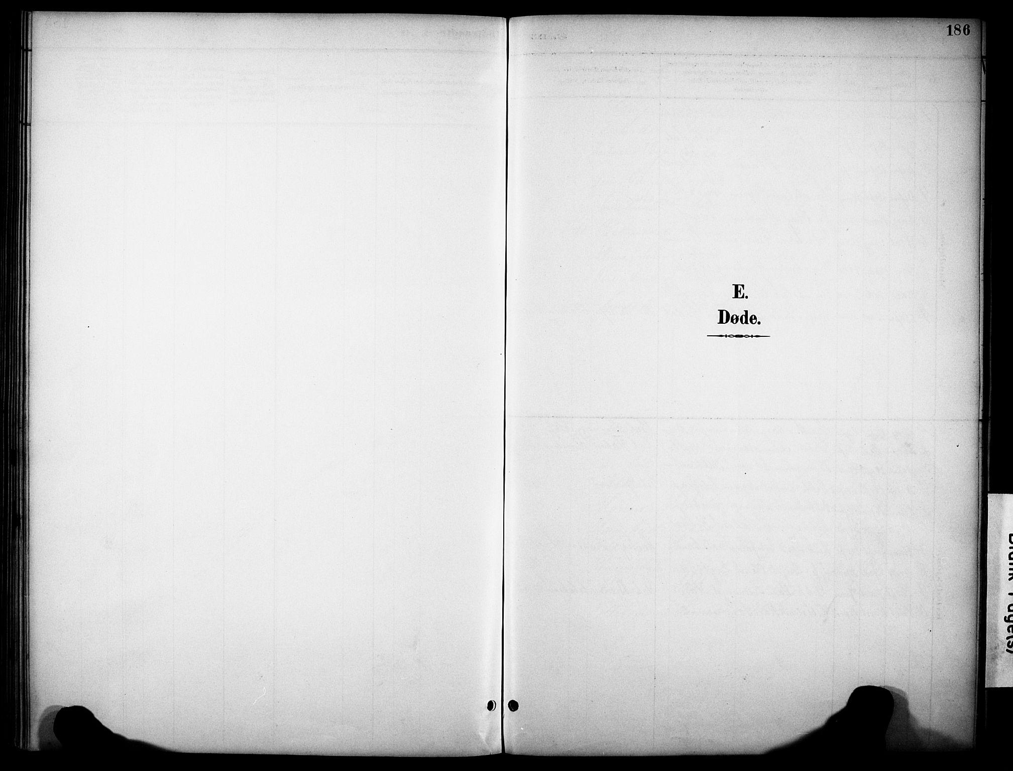 SAKO, Kviteseid kirkebøker, G/Gb/L0003: Klokkerbok nr. II 3, 1893-1933, s. 186