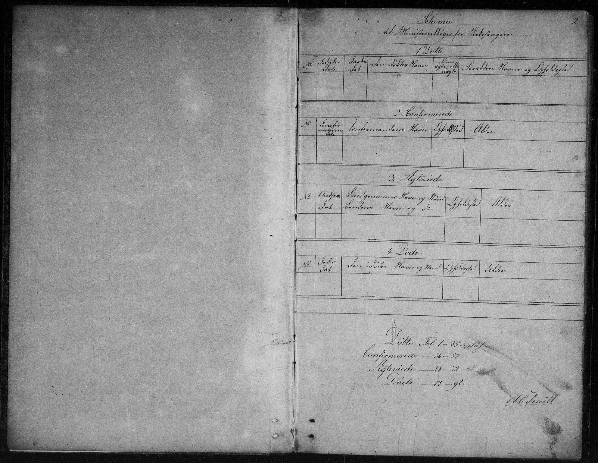 SAKO, Vinje kirkebøker, G/Gb/L0002: Klokkerbok nr. II 2, 1849-1891, s. 2