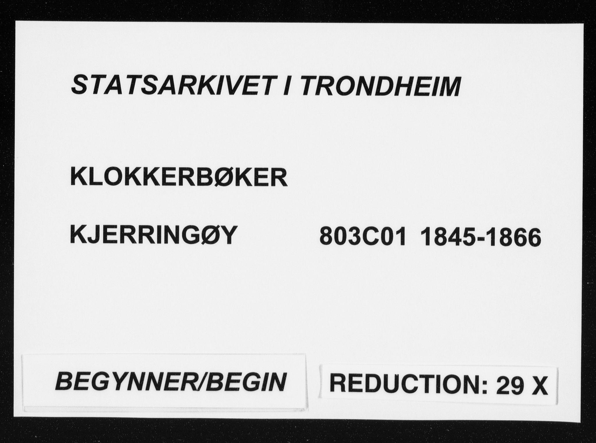 SAT, Ministerialprotokoller, klokkerbøker og fødselsregistre - Nordland, 803/L0074: Klokkerbok nr. 803C01, 1845-1866