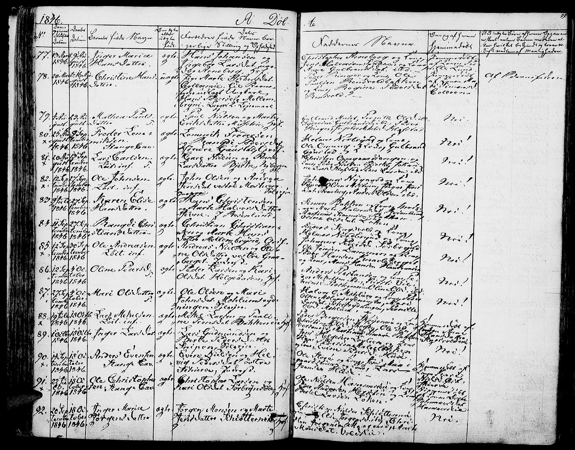 SAH, Romedal prestekontor, K/L0003: Ministerialbok nr. 3, 1829-1846, s. 99