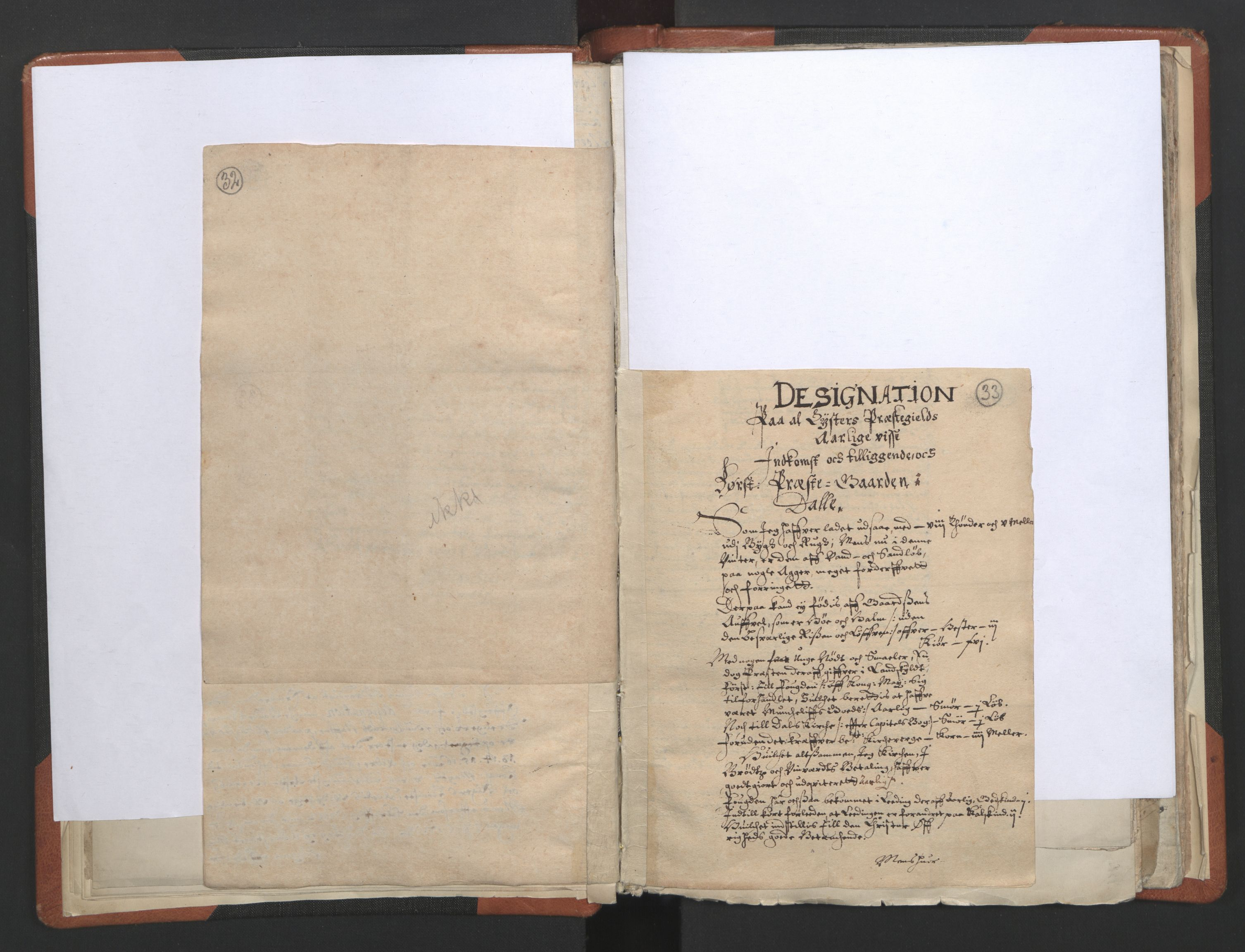 RA, Sogneprestenes manntall 1664-1666, nr. 23: Sogn prosti, 1664-1666, s. 32-33