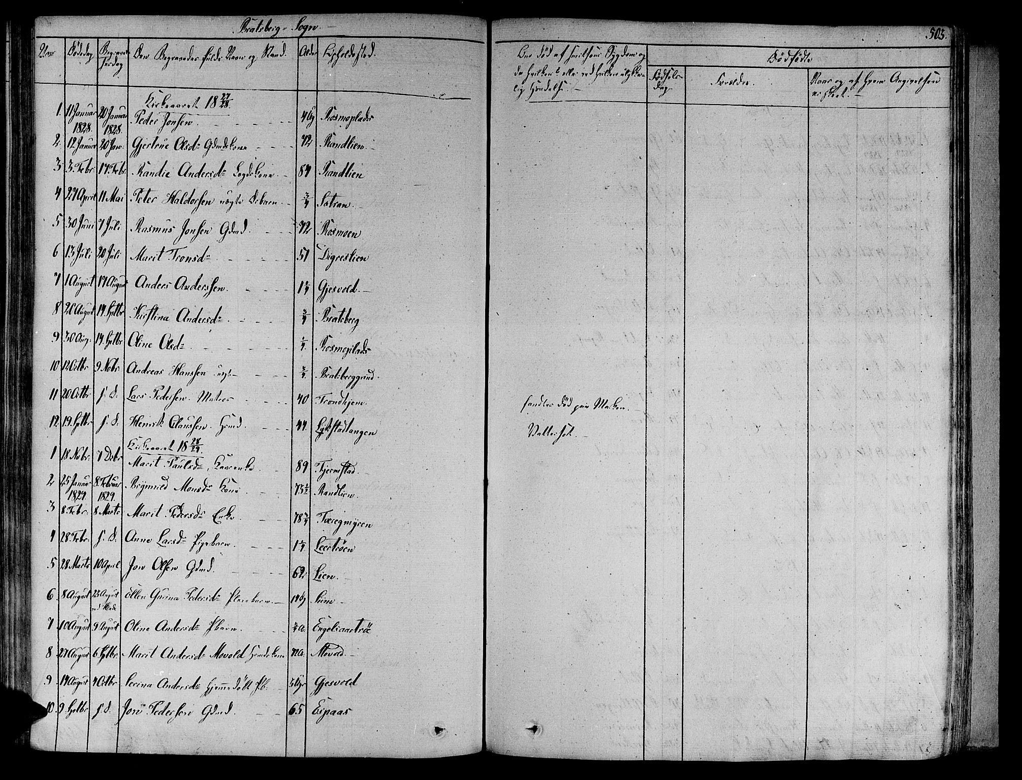 SAT, Ministerialprotokoller, klokkerbøker og fødselsregistre - Sør-Trøndelag, 606/L0289: Ministerialbok nr. 606A04 /4, 1826-1840, s. 503