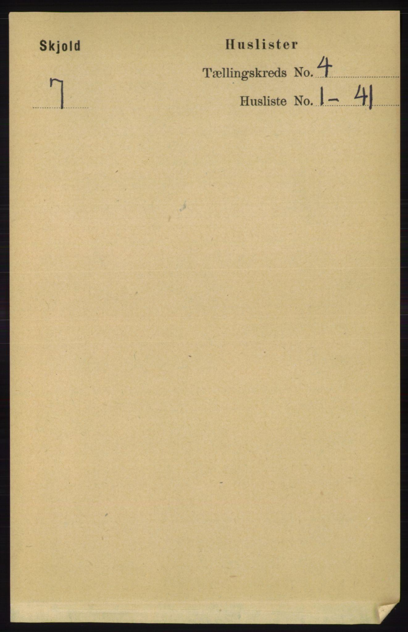 RA, Folketelling 1891 for 1154 Skjold herred, 1891, s. 509