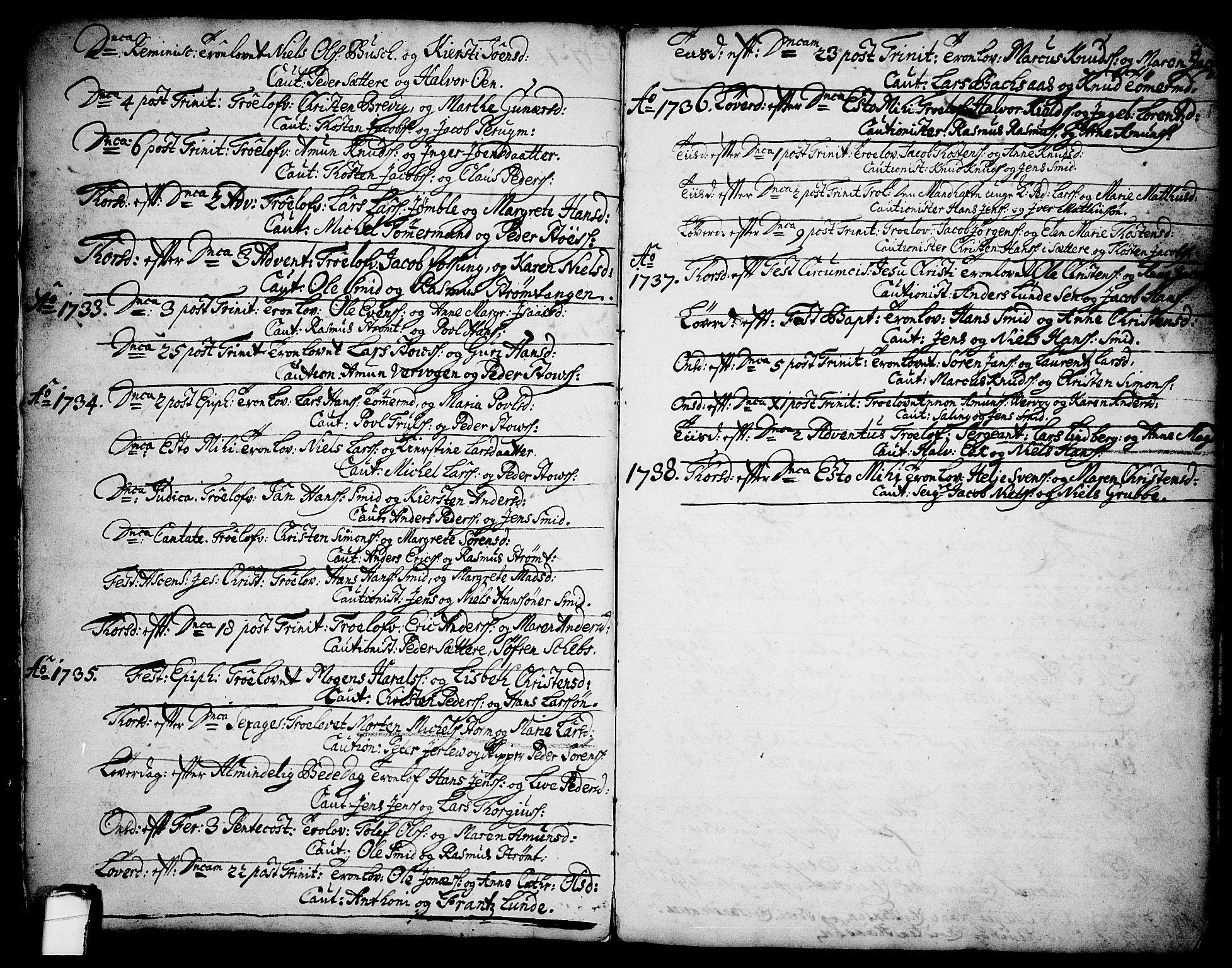 SAKO, Brevik kirkebøker, F/Fa/L0002: Ministerialbok nr. 2, 1720-1764, s. 3