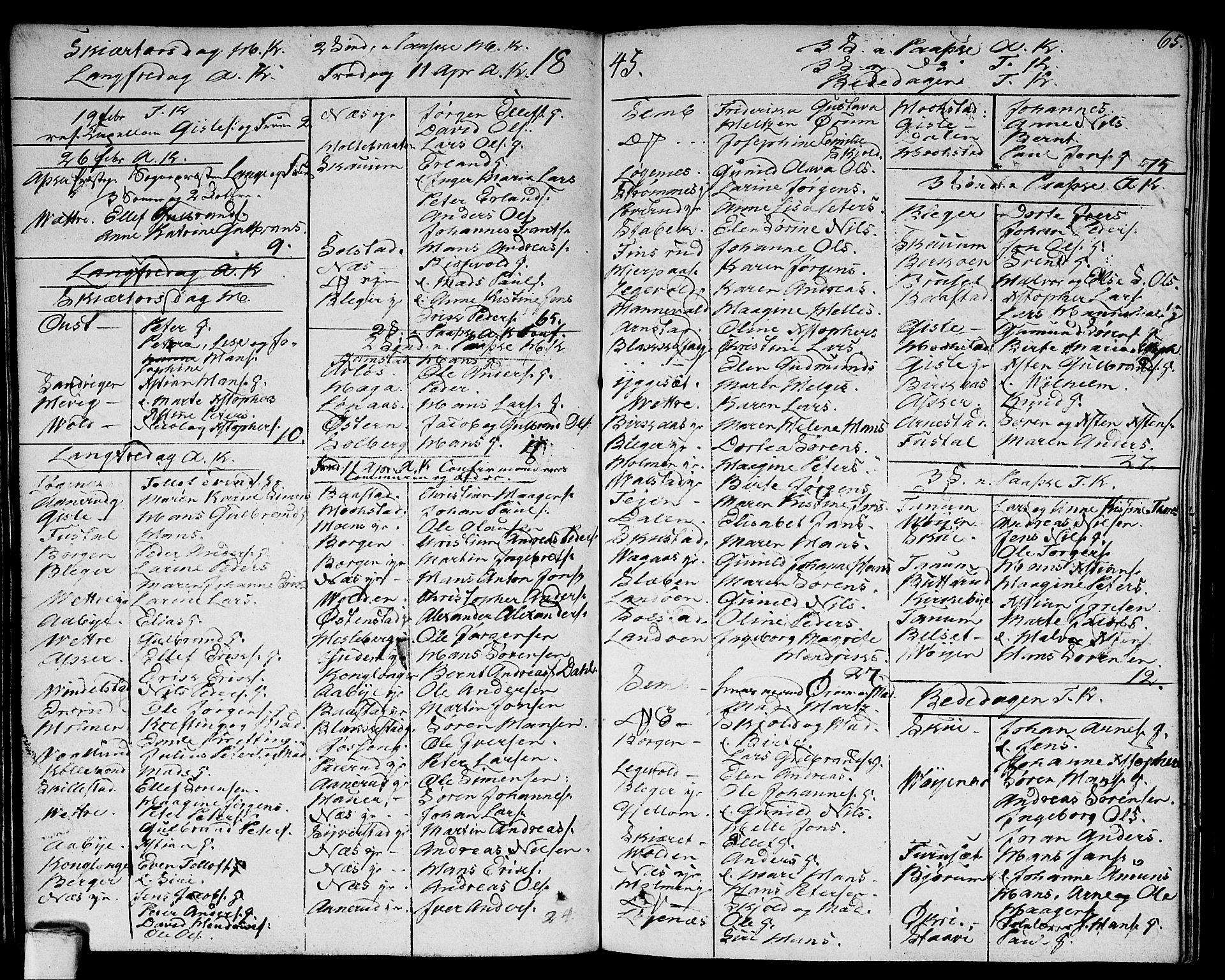 SAO, Asker prestekontor Kirkebøker, F/Fa/L0005: Ministerialbok nr. I 5, 1807-1813, s. 65