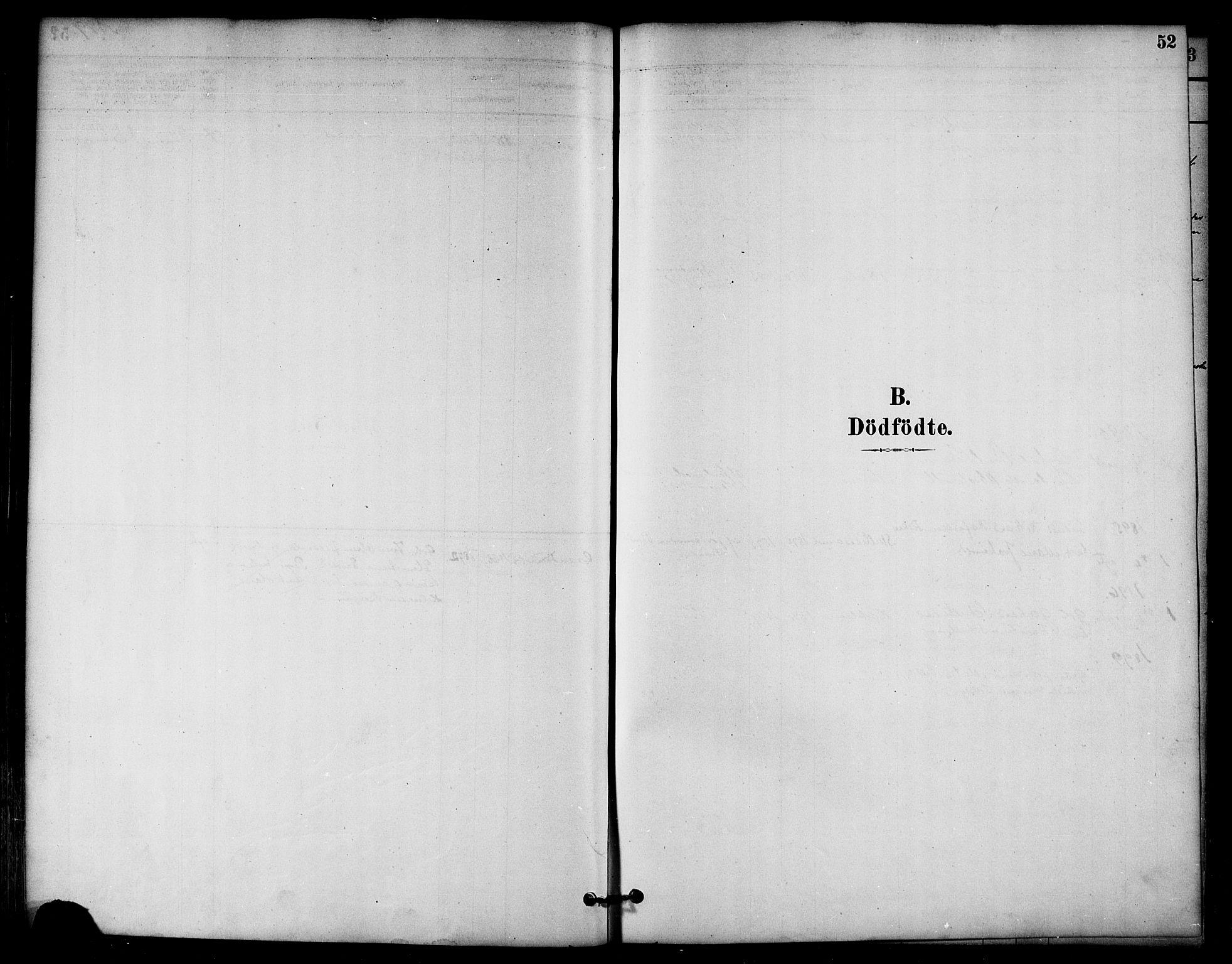 SAT, Ministerialprotokoller, klokkerbøker og fødselsregistre - Nord-Trøndelag, 766/L0563: Ministerialbok nr. 767A01, 1881-1899, s. 52